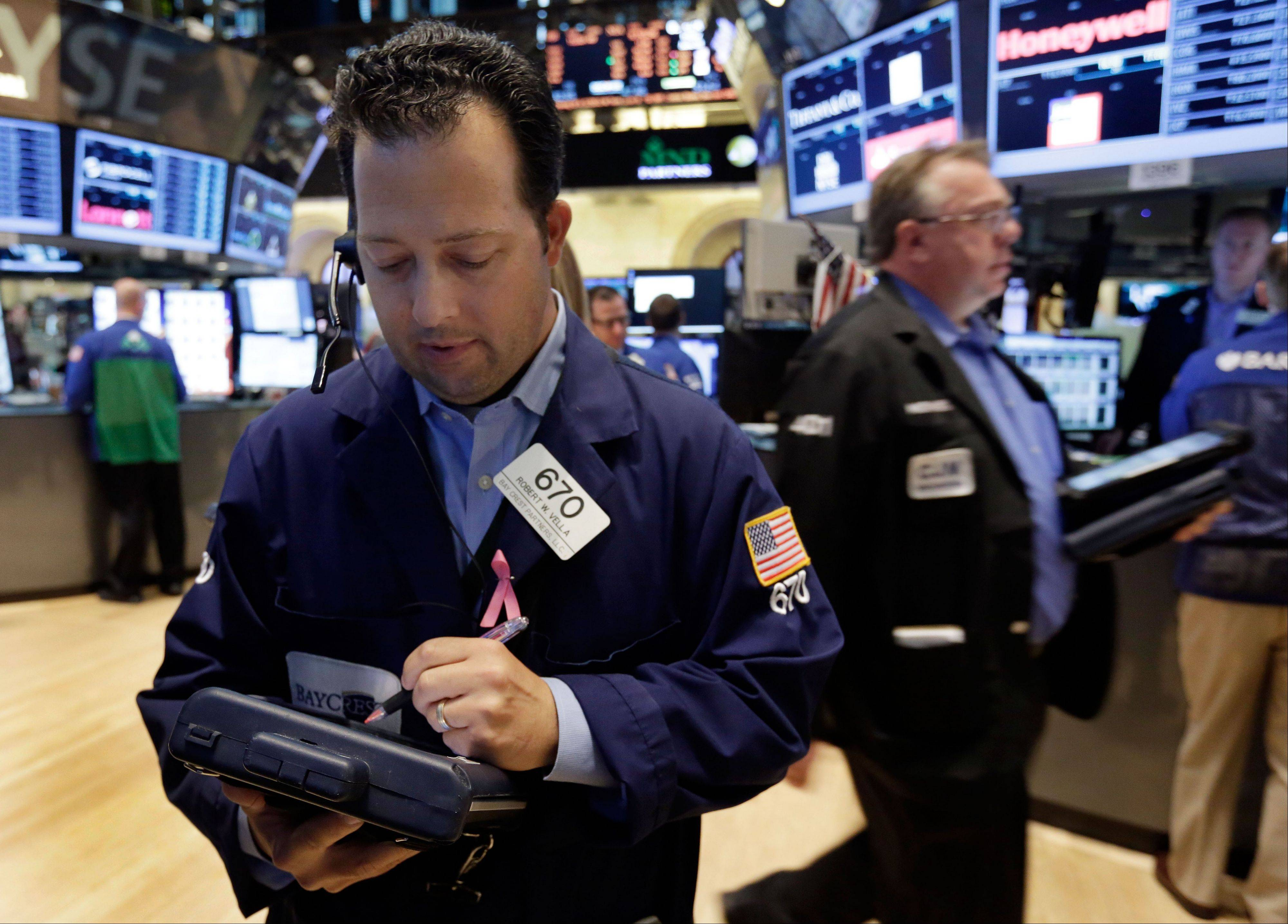 U.S. stocks fell, erasing earlier gains, as the Standard & Poor�s 500 Index failed to hold above its average level from the past 50 days and investors awaited a monthly jobs report and the start of corporate earnings.