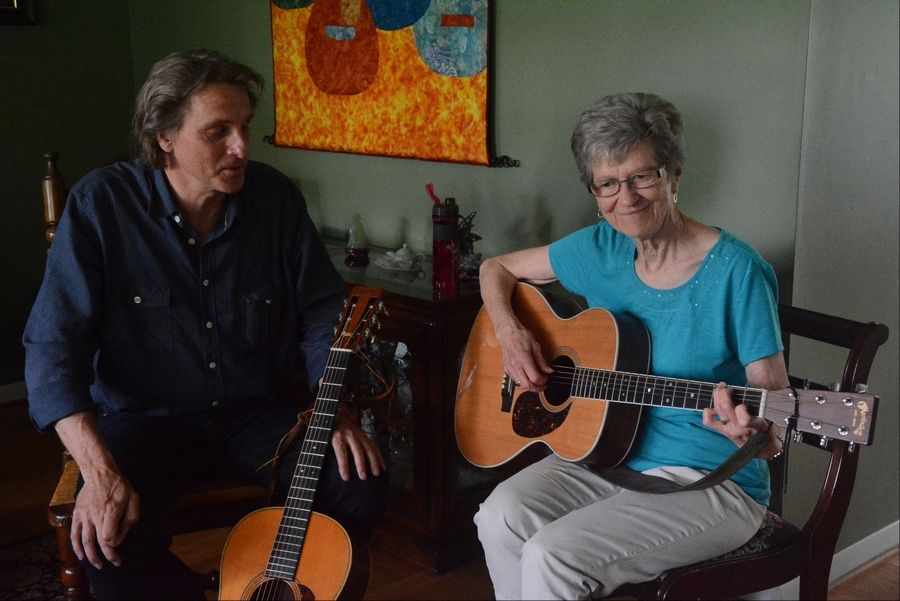 It wasn't until she took a guitar class at age 70 at the Old Town School of Folk Music that Marge Weber found an outlet for her musical passion. Strumming her Martin guitar under the watchful eye of teacher Mark Dvorak, the 79-year-old Elk Grove Village grandmother debuted her new CD last week.