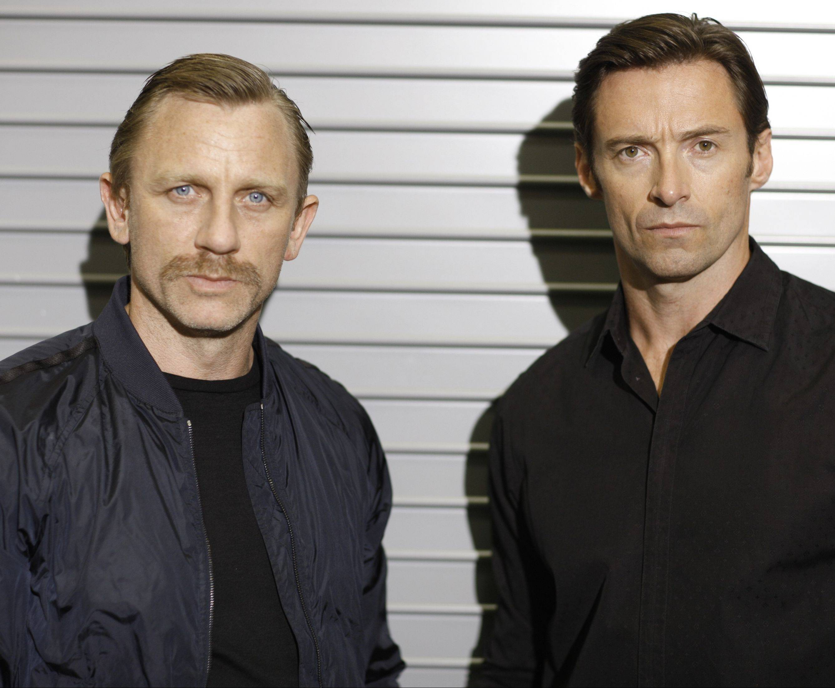 "In 2009, Daniel Craig, left, and Hugh Jackman played the lead roles in Keith Huff's play ""A Steady Rain,"" about two Chicago policemen."