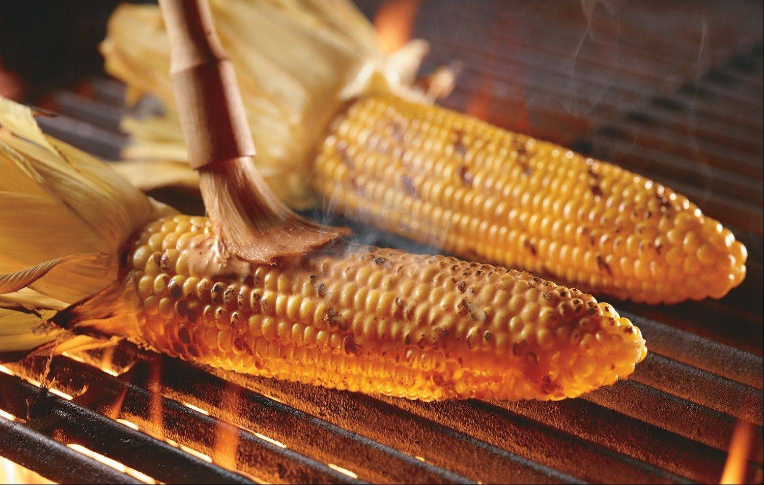 LongHorn's peak menu items include fire-roasted corn.