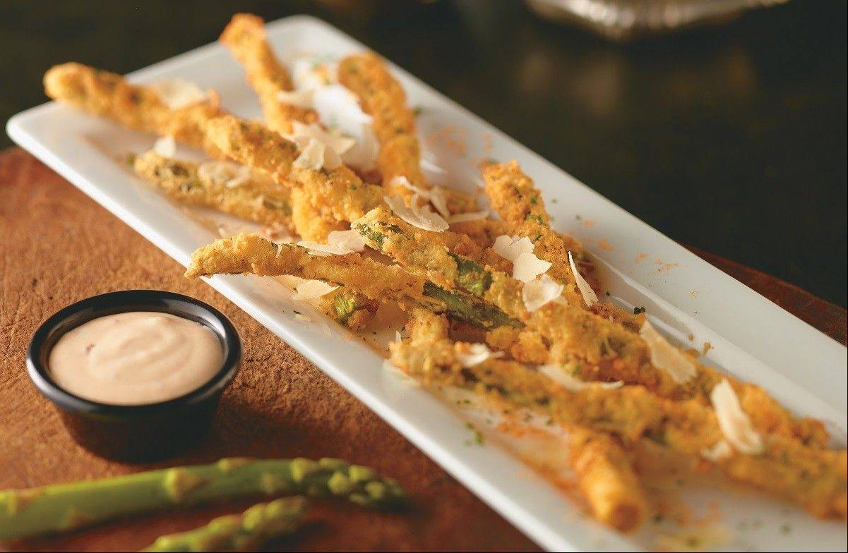 Parmesan-crusted asparagus is on the new appetizer menu at LongHorn Steakhouse.