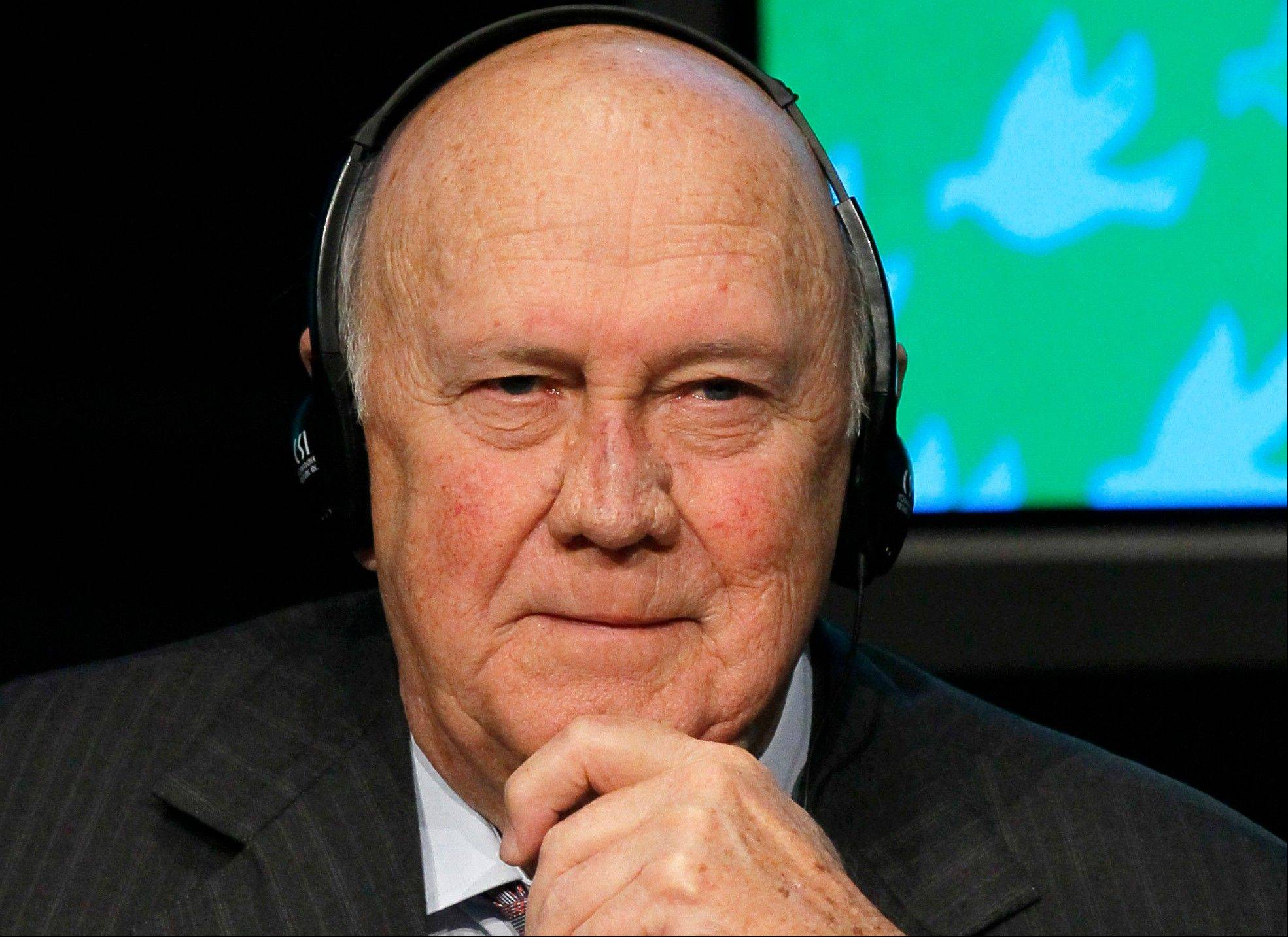 Former South African President F.W. de Klerk, the last leader of the apartheid era and a co-recipient of the 1993 Nobel Peace Prize with Nelson Mandela, will be fitted with a pacemaker, Tuesday July 2, 2013, to help his heart function.