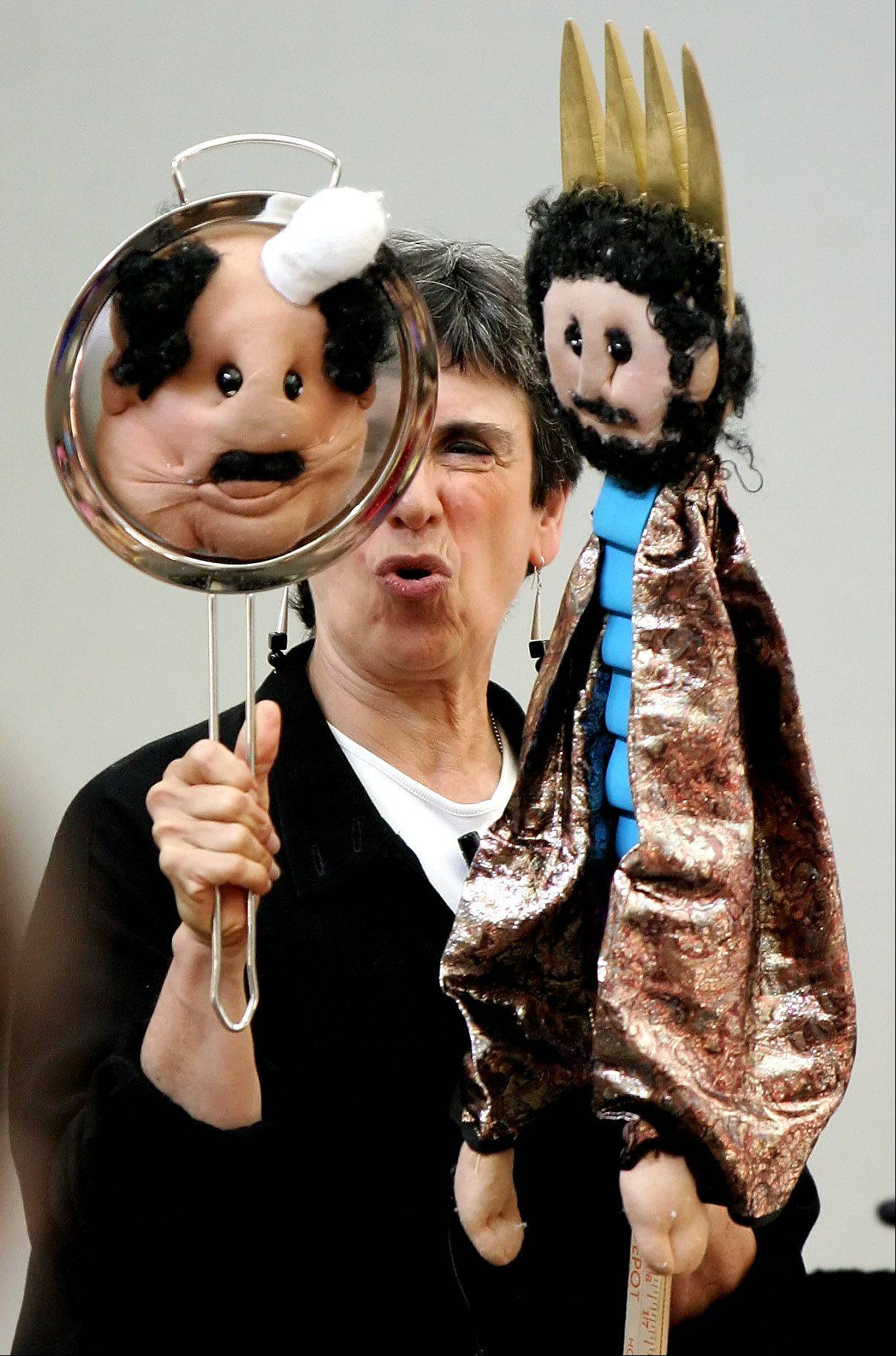 With her Wonderful World of Puppets, Marilyn Price brings storytelling to the children's area of Eyes to the Skies on Saturday.