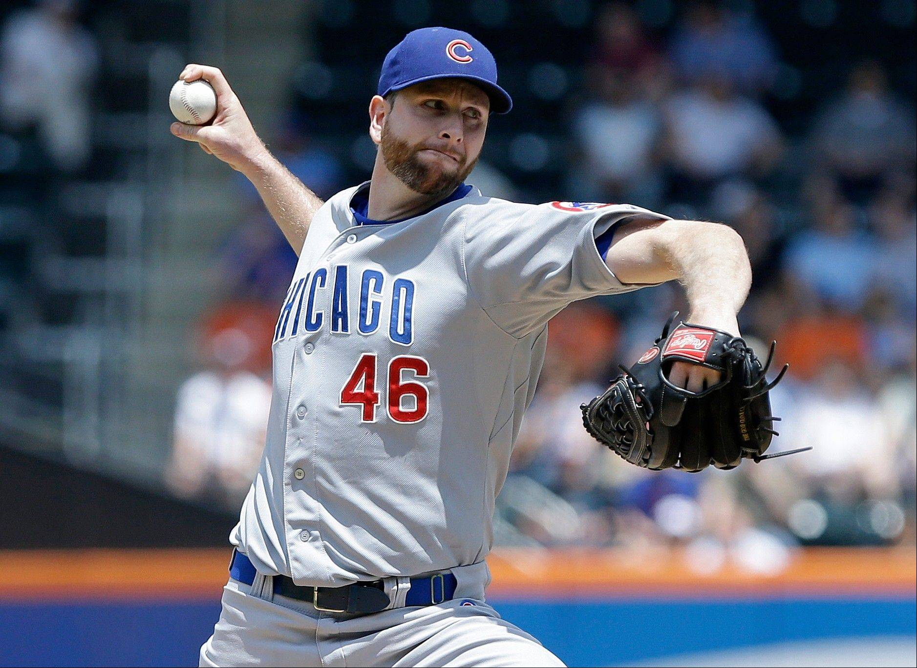 The Cubs traded pitcher Scott Feldman and catcher-infielder Steve Clevenger to Baltimore on Tuesday for pitchers Jake Arrieta and Pedro Strop along with money for international free-agent signings.
