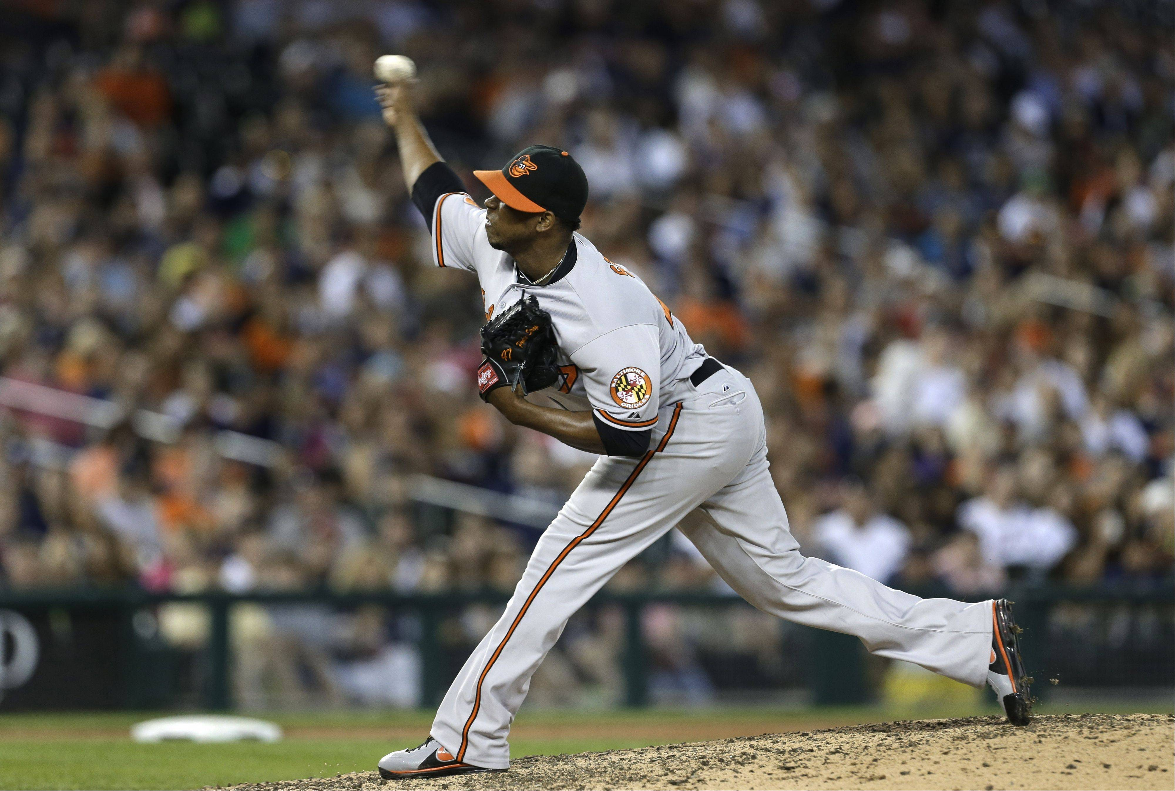 The Cubs acquired pitcher Pedro Strop from the Baltimore Orioles in a deal announced Tuesday.