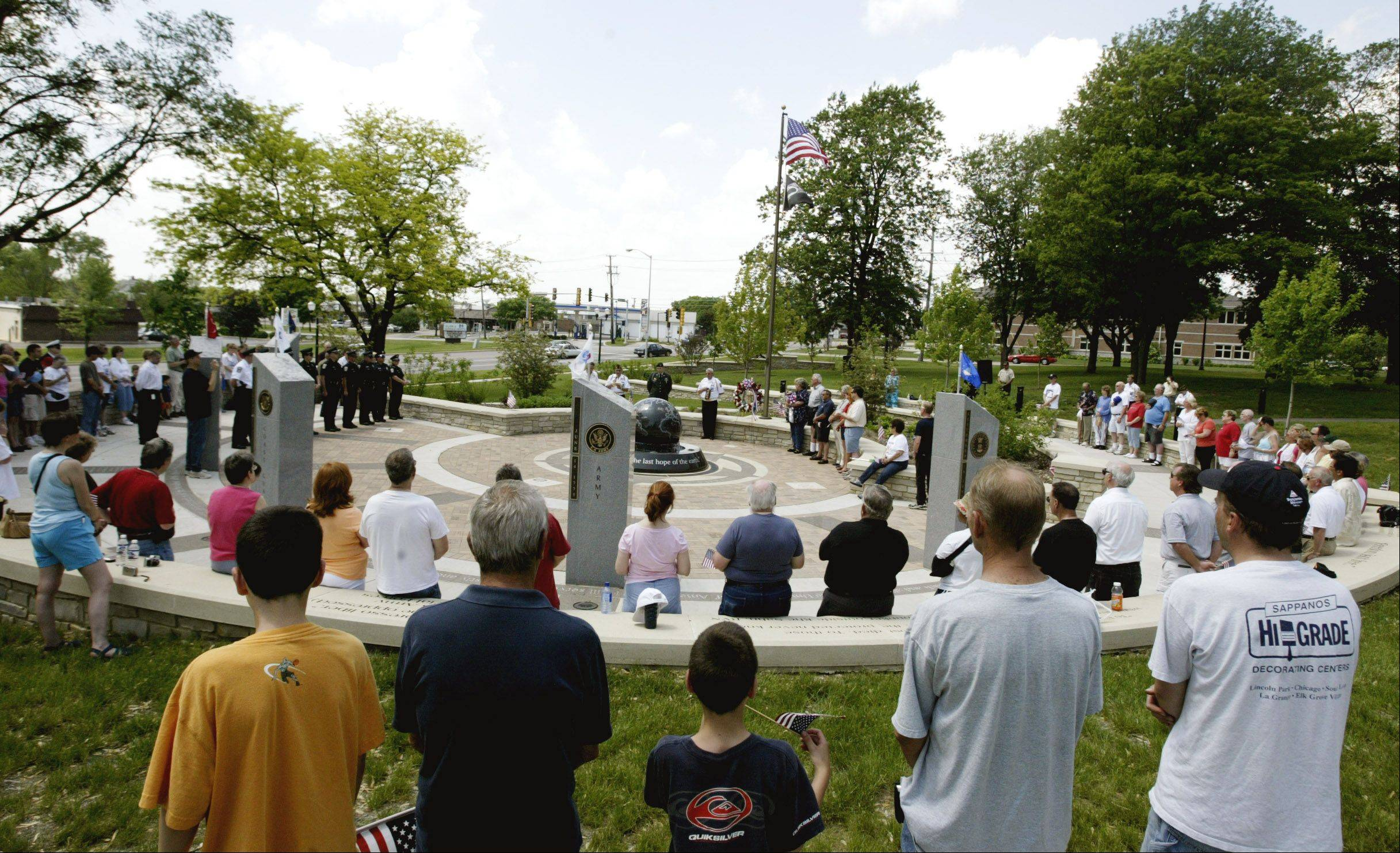 A drive will begin Sunday to raise money for a digital system to play taps at dusk every evening at Veterans Memorial Park in Glendale Heights.