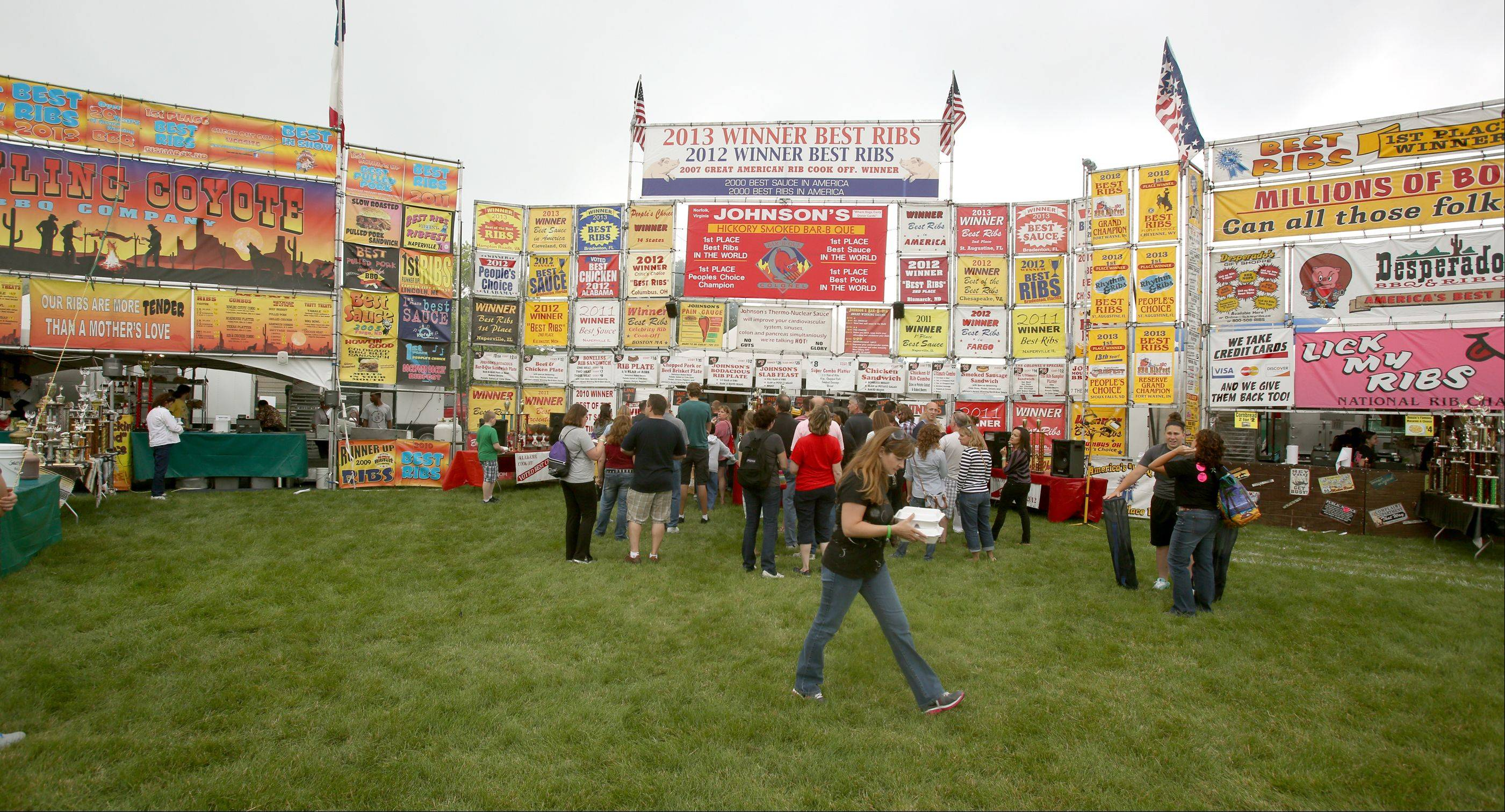 Opening day of the Naperville Exchange Club's 26th annual Ribfest at Knoch Park.
