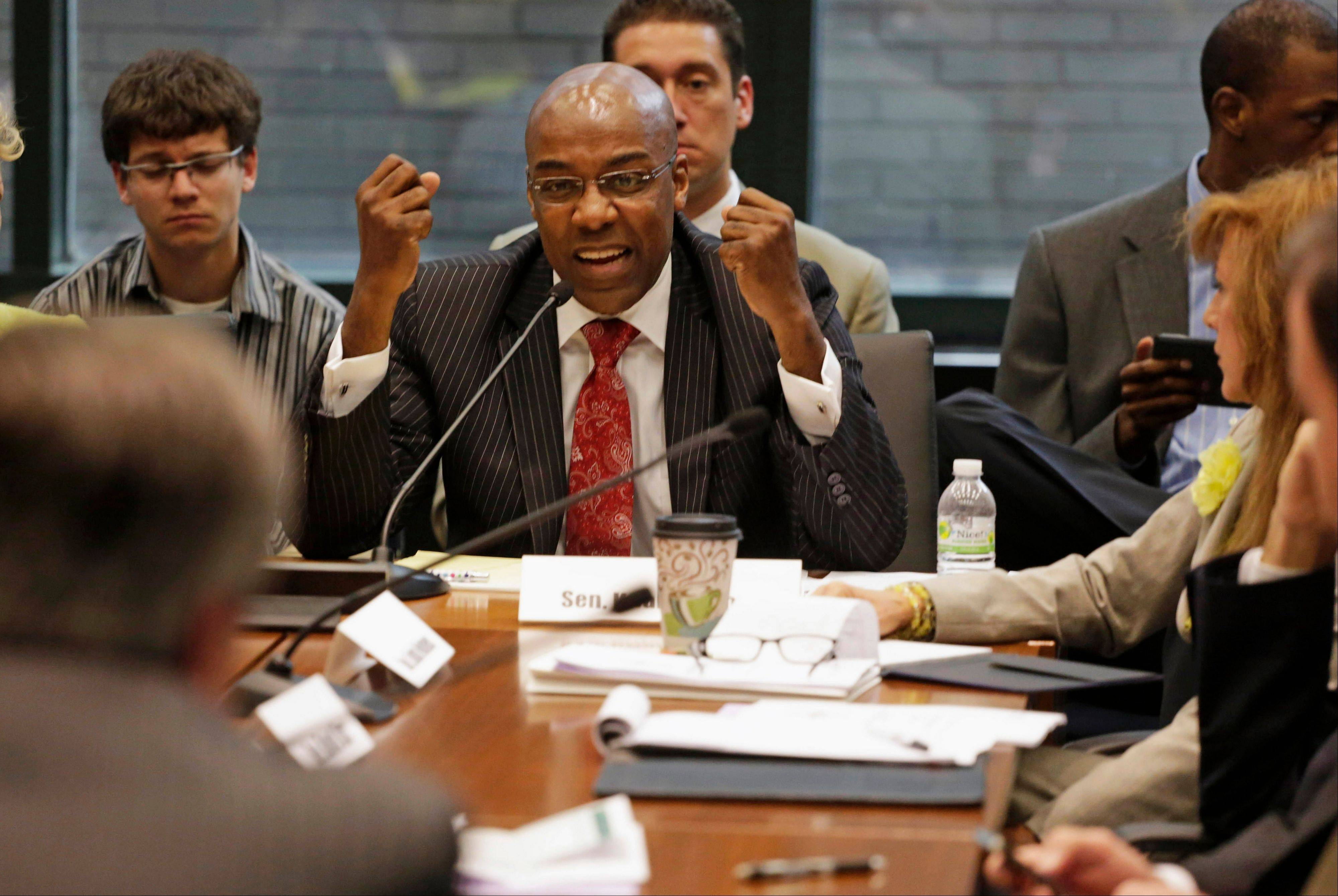 State Sen. Kwame Raoul, a Chicago Democrat, is the chairman of a legislative committee working to forge a compromise on Illinois' $97 billion pension crisis.
