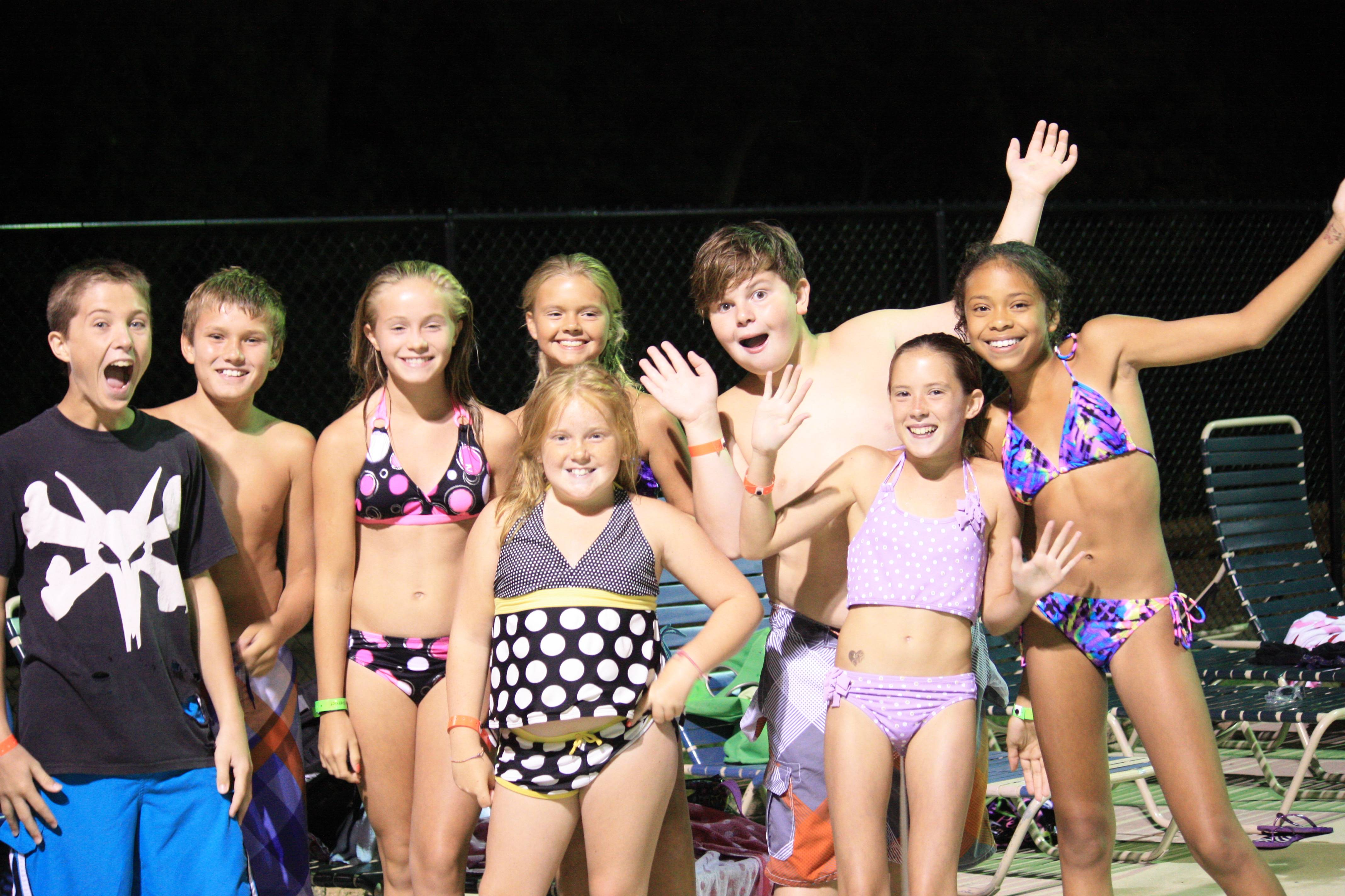 Kids enjoying the Tween Pool Party in 2012.