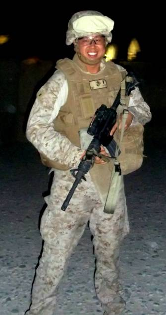 Camp Bastion, Afghanistan 2012 Then-First Lieutenant Sonny Tai