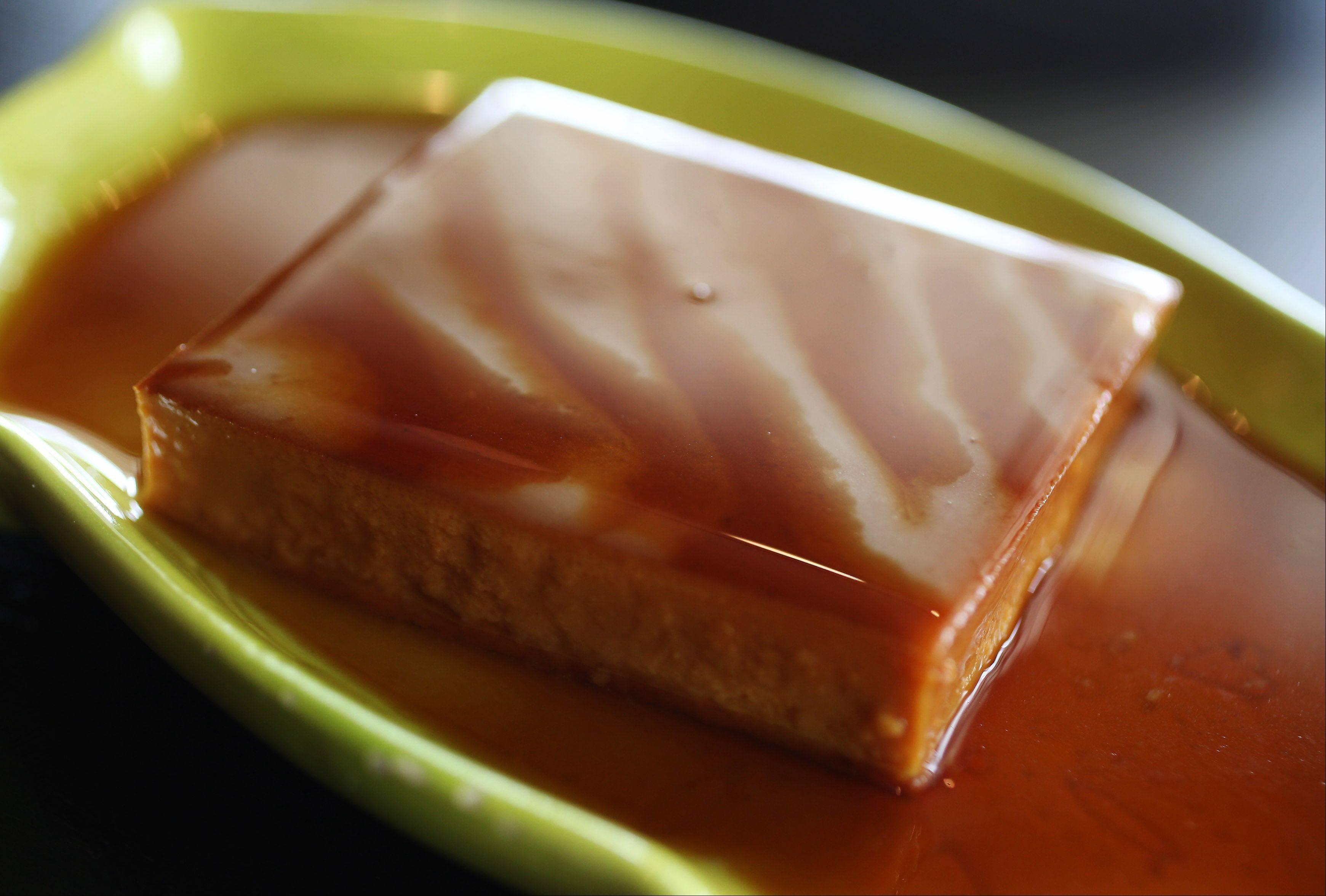 The caramel-sauced flan at Lulo's Cuban Cafe in Grayslake is the best around.