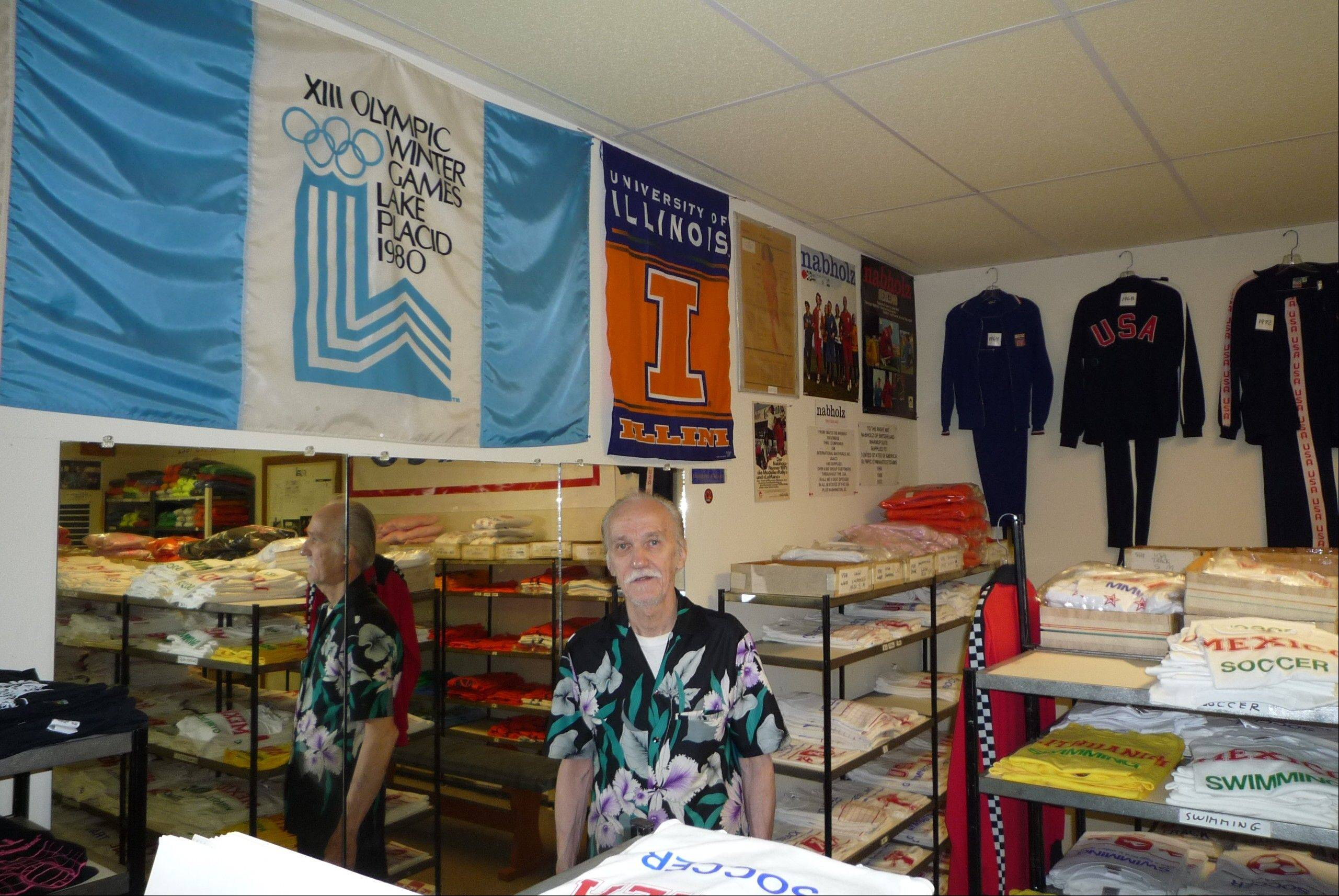 "An outstanding gymnast at the University of Illinois, Ed Gombos narrowly missed making the U.S. Olympic team. But the Addison man did end up as an official supplier of the suits U.S. athletes wore in several Olympics. Track suits from 1964, 1968 and 1972 hang on the wall as Gombos explains how the ""Miracle on Ice"" hockey team sent him the 1980 Lake Placid banner he proudly displays."