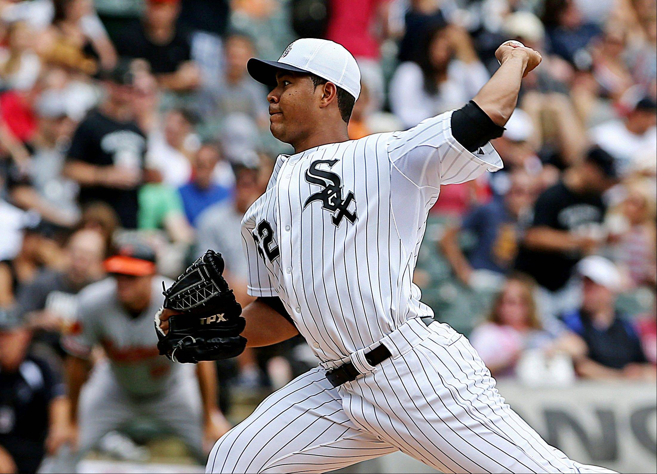 White Sox starting pitcher Jose Quintana allowed only 2 hits Thursday while striking out a career-high 11 against the Baltimore Orioles. He ended up with a no-decision.