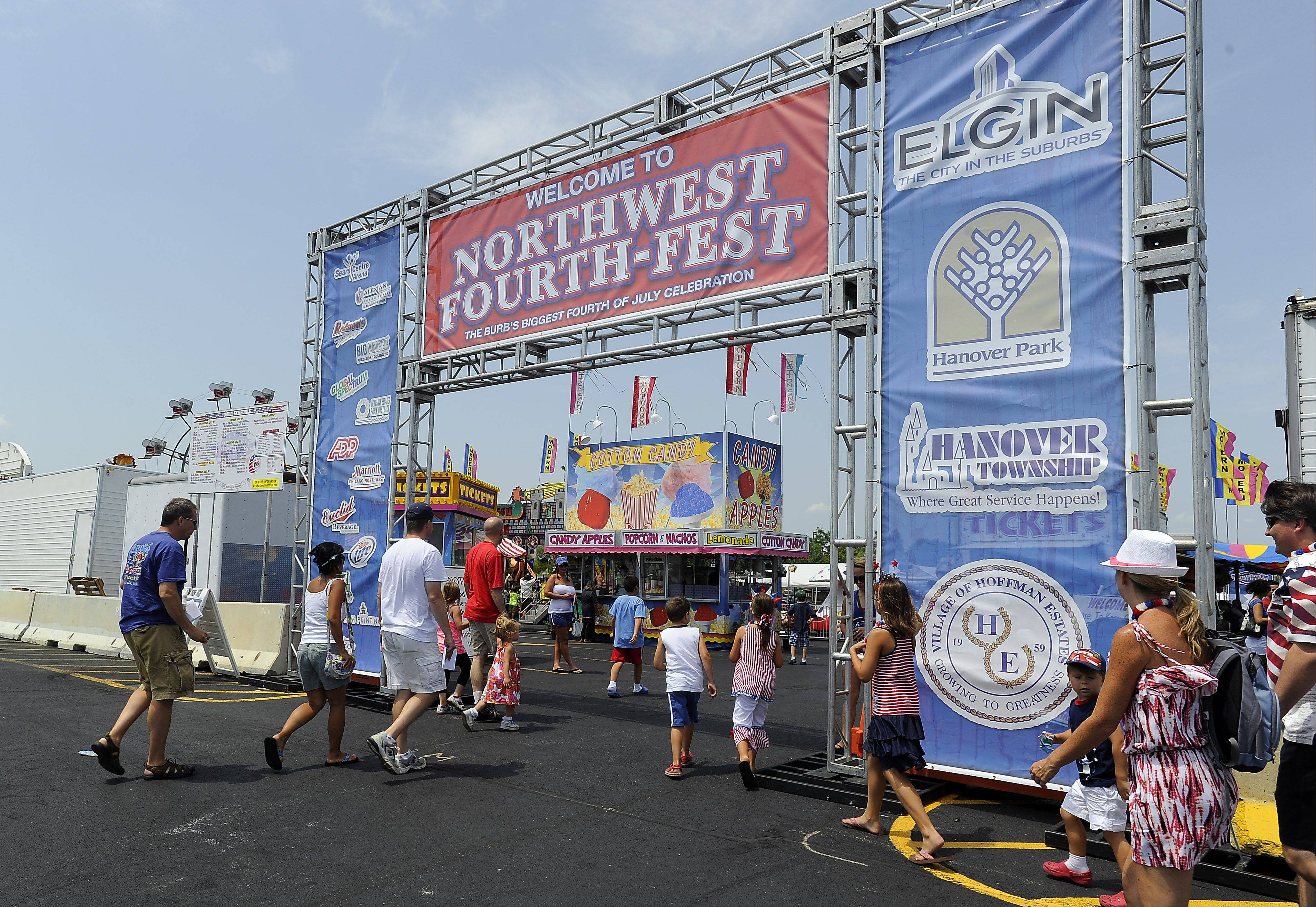 Northwest Fourth-Fest continues now through Sunday on the grounds of the Sears Centre Arena in Hoffman Estates,