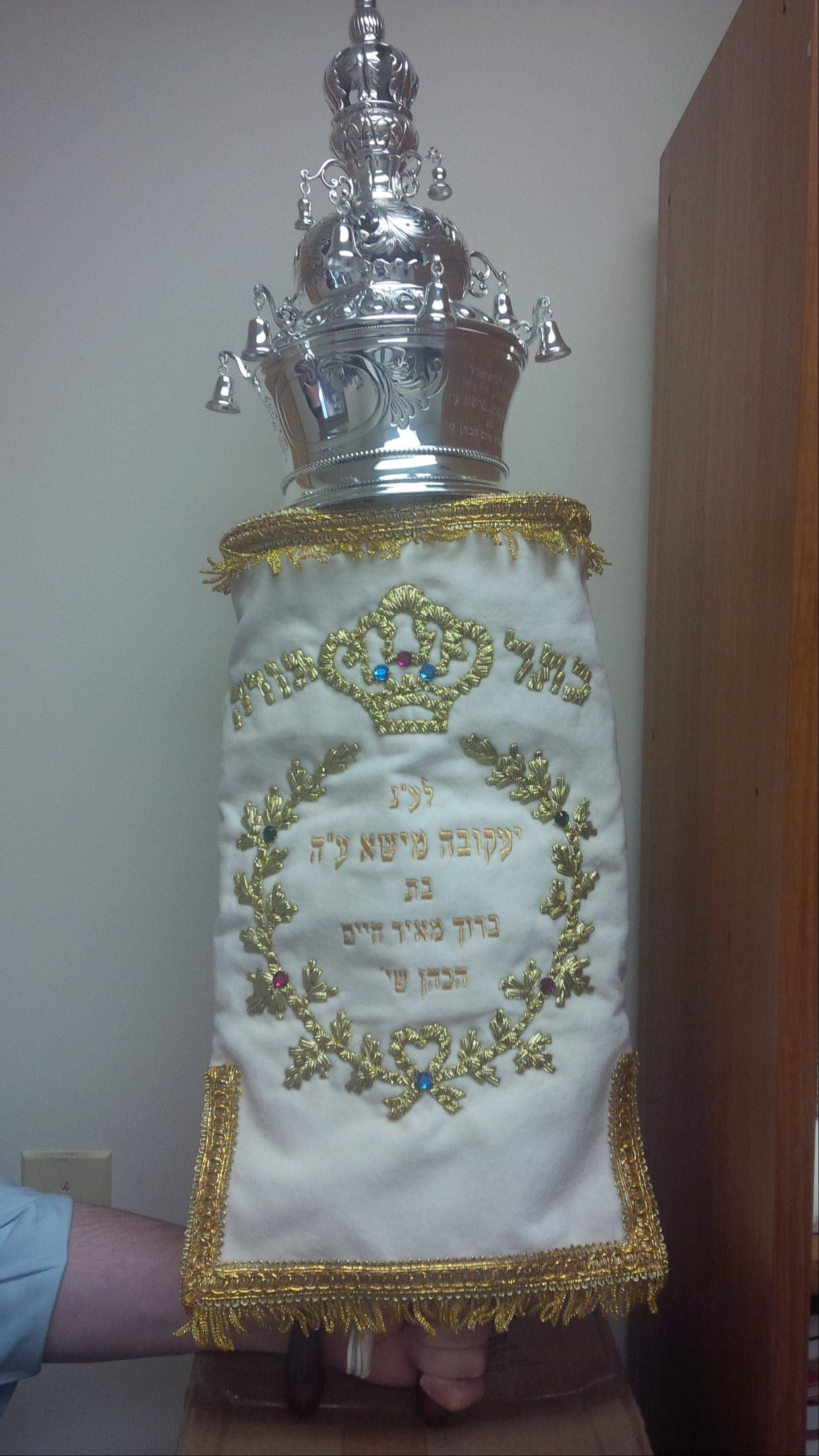 This miniature Torah will be welcomed into Congregation Lubavitch Chabad in Northbrook on July 21.