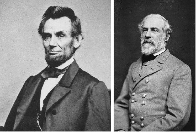 "President Abraham Lincoln went to Pennsylvania a few months after the battle and delivered the Gettysburg Address, in which he spoke of ""a new birth of freedom"" for a reunited nation. Right, Gen. Robert E. Lee, who led the Confederate (Southern) army."