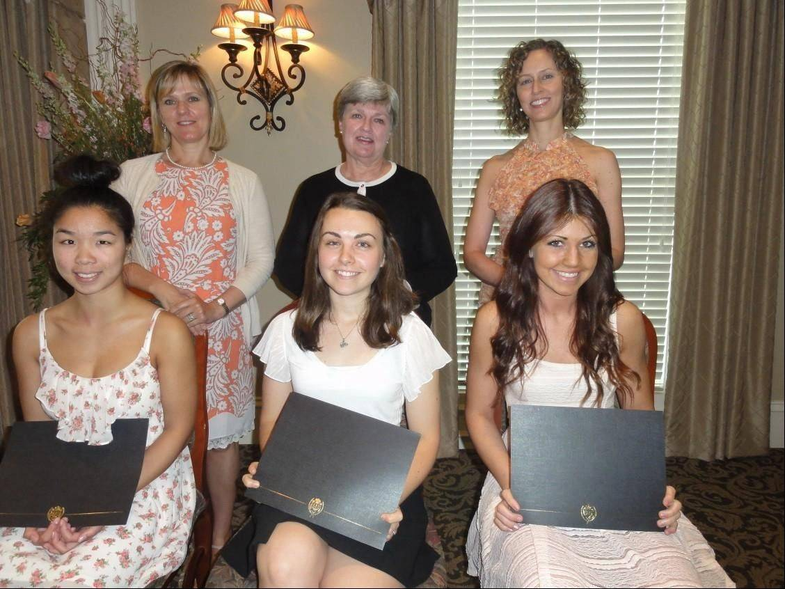 Seated, from left, are scholarship recipients Maya Heidtke, Ellen Hanes and Katelyn Pozniak; and standing, from left, Garden Club of Inverness members Melodie Moroney, Mary Jo Bregenzer, and Michelle Kurtweil.