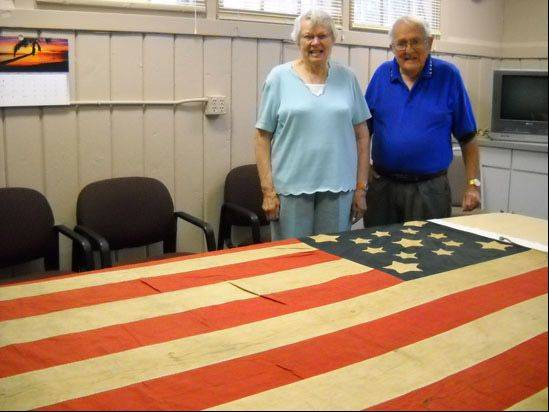 Millie and David Ramsay donated this Civil War-era flag to the Lake County Discovery Museum.