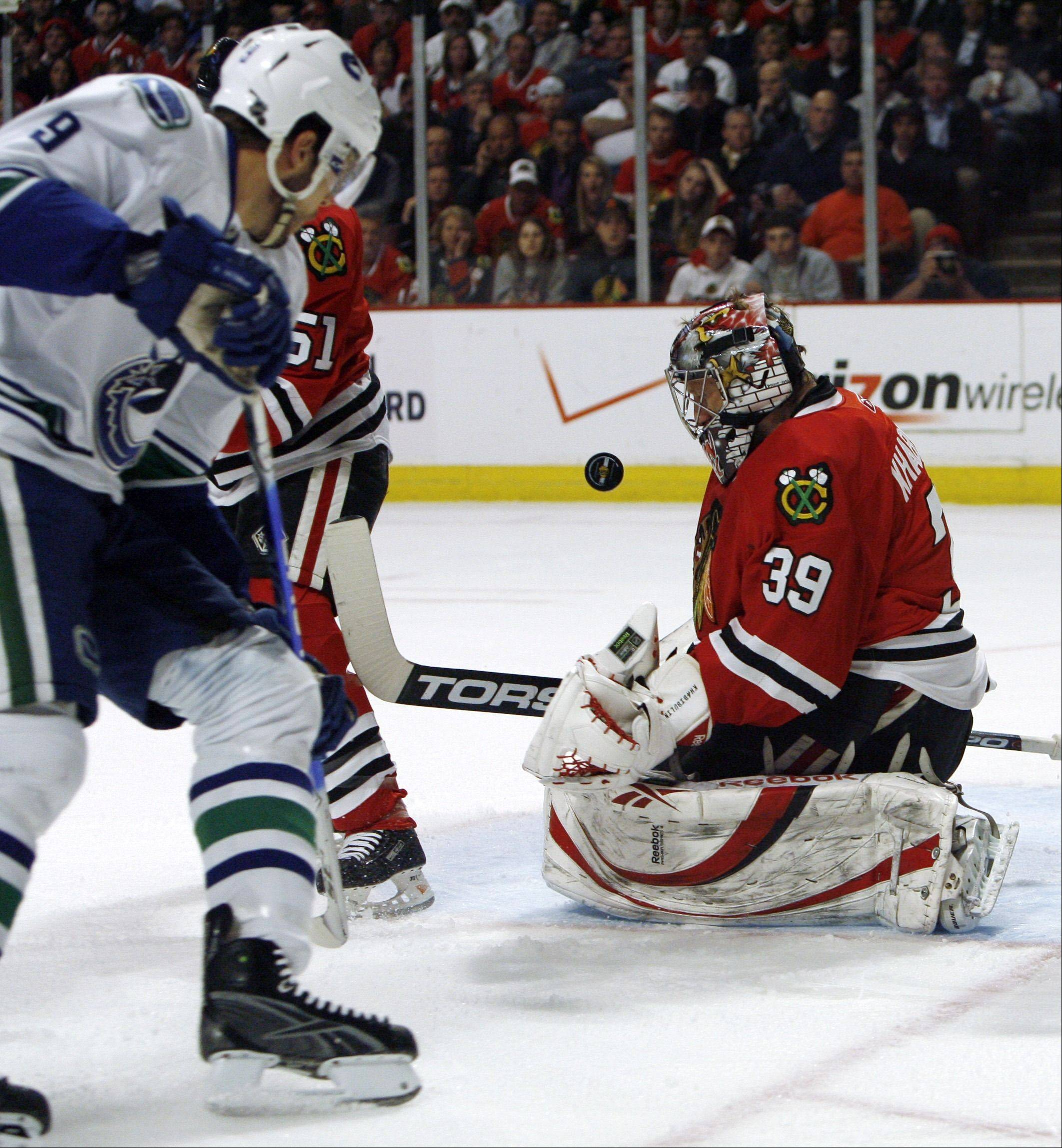 Goalie Nikolai Khabibulin played his last game with the Blackhawks in Game 3 of the 2009 Western Conference finals against the Red Wings.