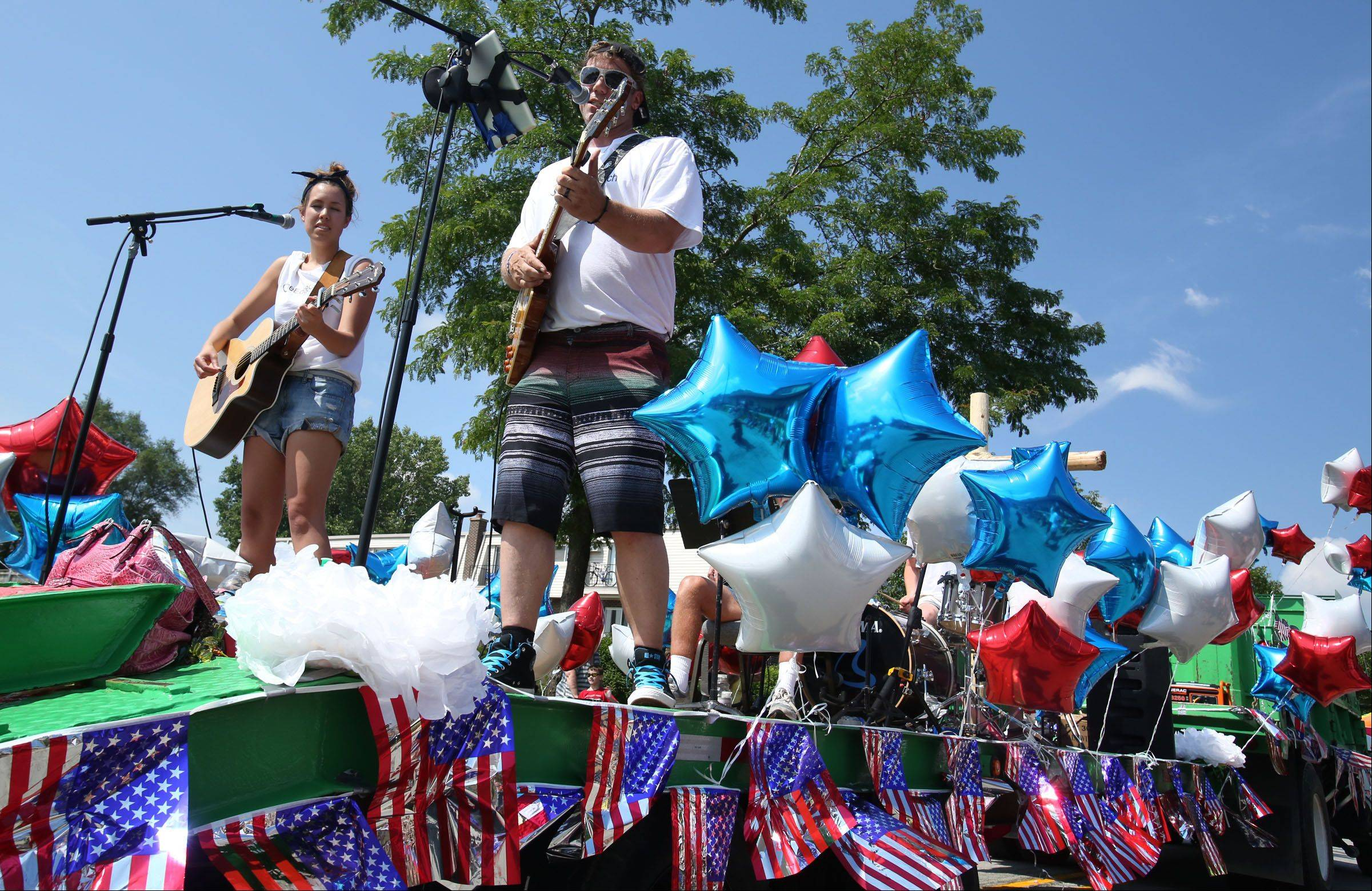 The Edge Church band performs Saturday in the Celebrate Fox Lake parade on Grand Avenue.