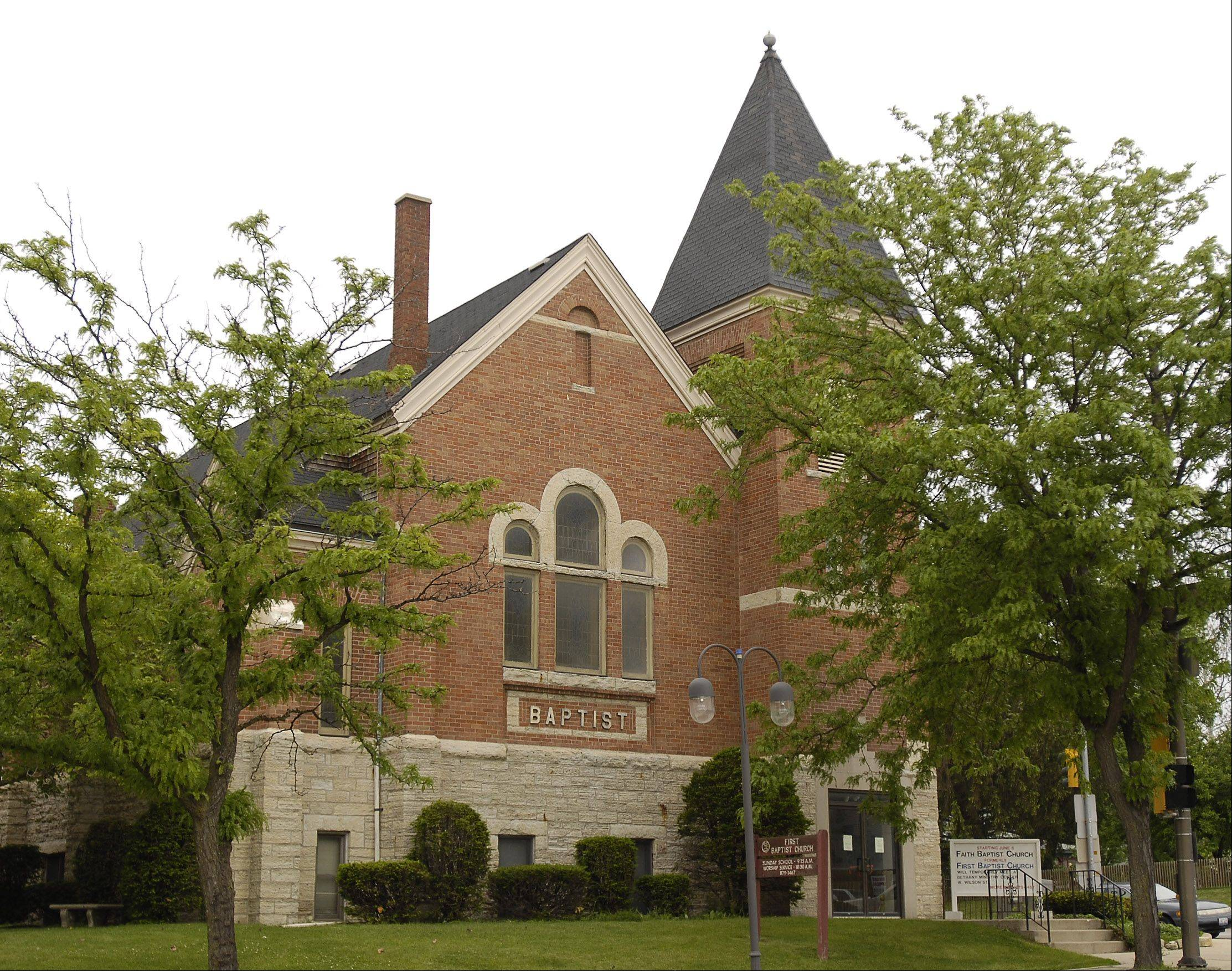 The former First Baptist Church in Batavia. An open house is scheduled for 6:30 p.m. July 30, as the city council decides the fate of the building.