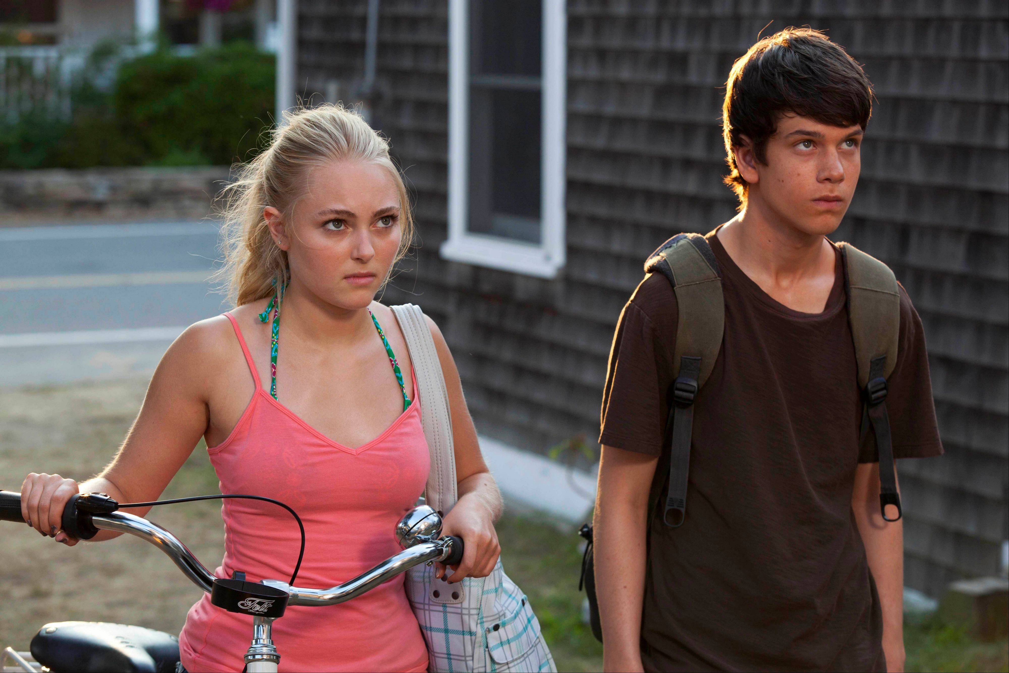 AnnaSophia Robb, left, and Liam James star in �The Way, Way Back,� written by Nat Faxon and Jim Rash.
