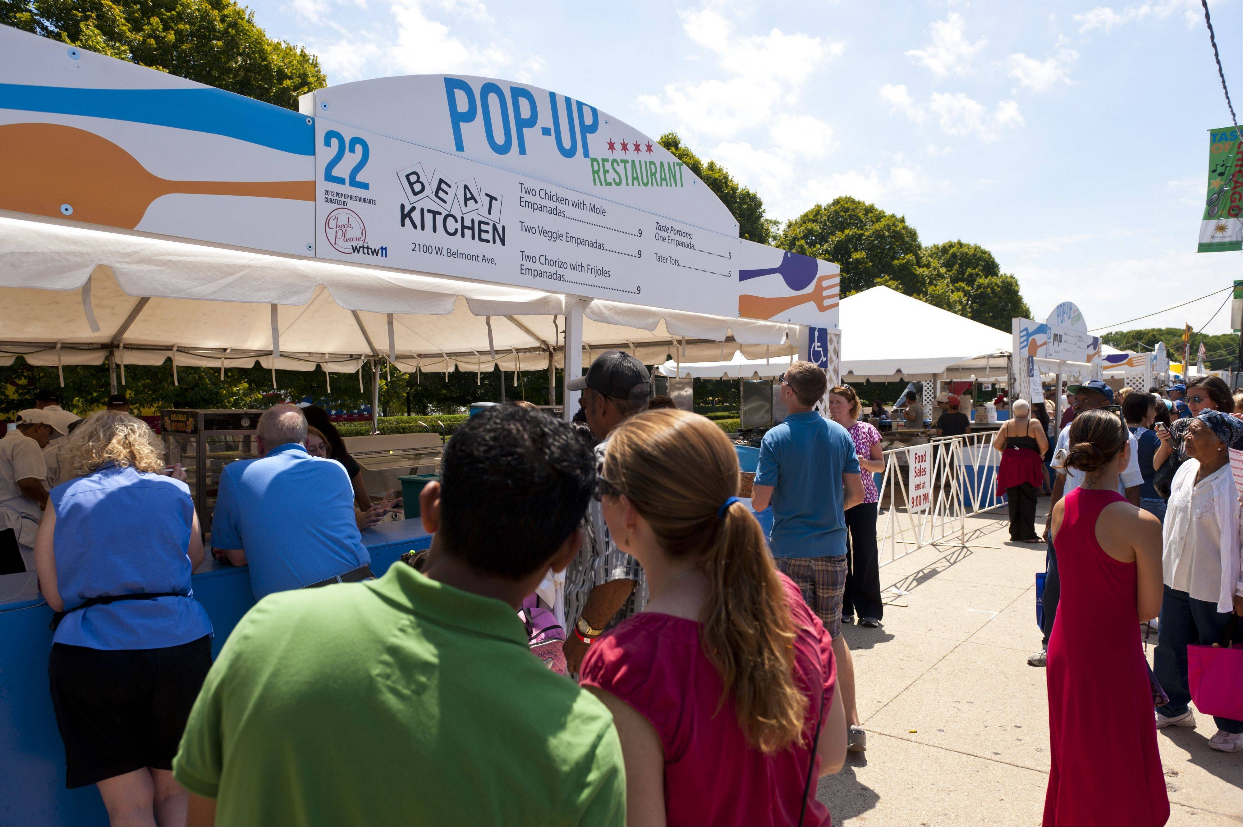 Pop-Up restaurants offer even more menu choices during the annual Taste of Chicago in Grant Park.