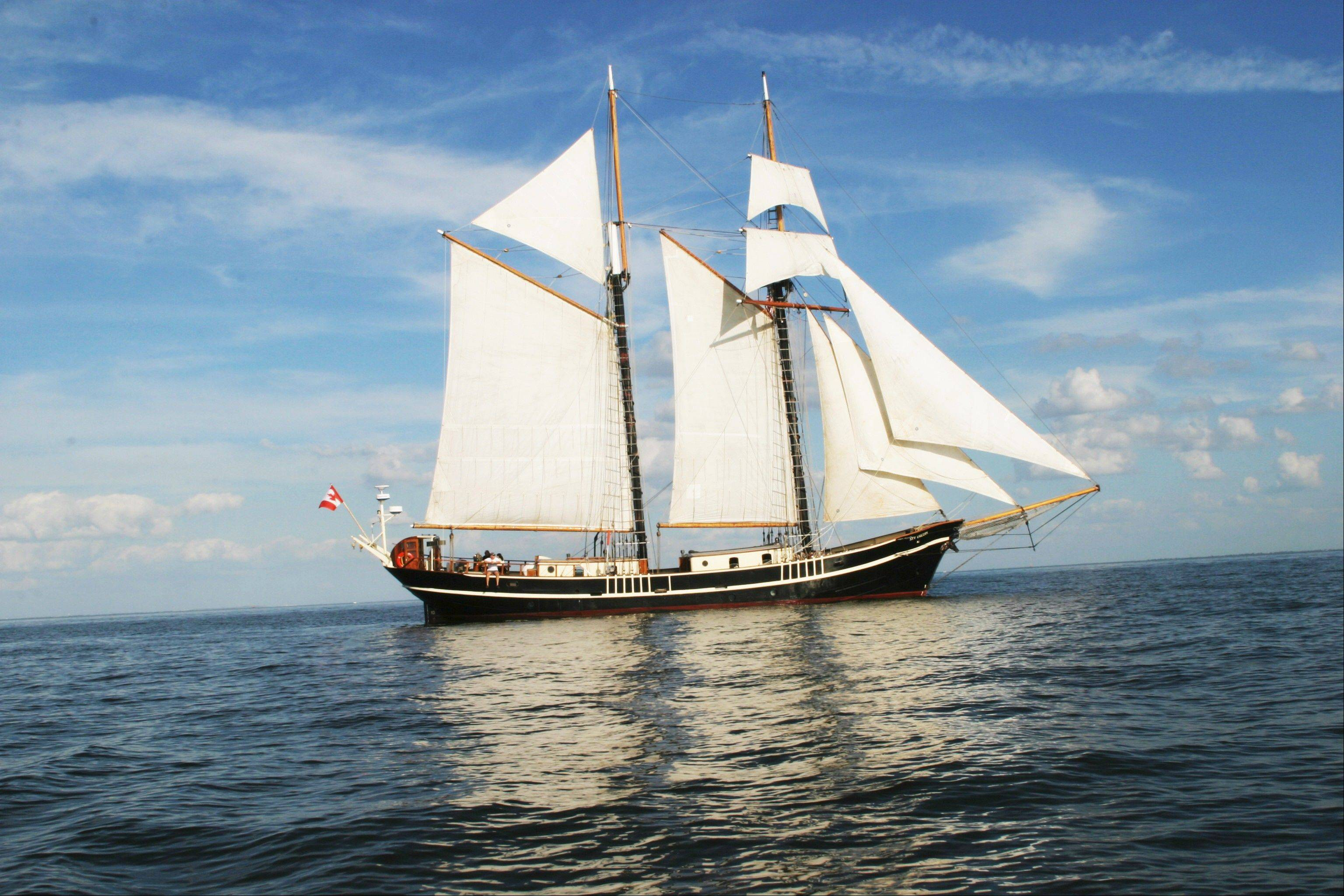 The Unicorn is just one of the vessels anchoring at the Tall Ships Challenge in Bay City, Mich.