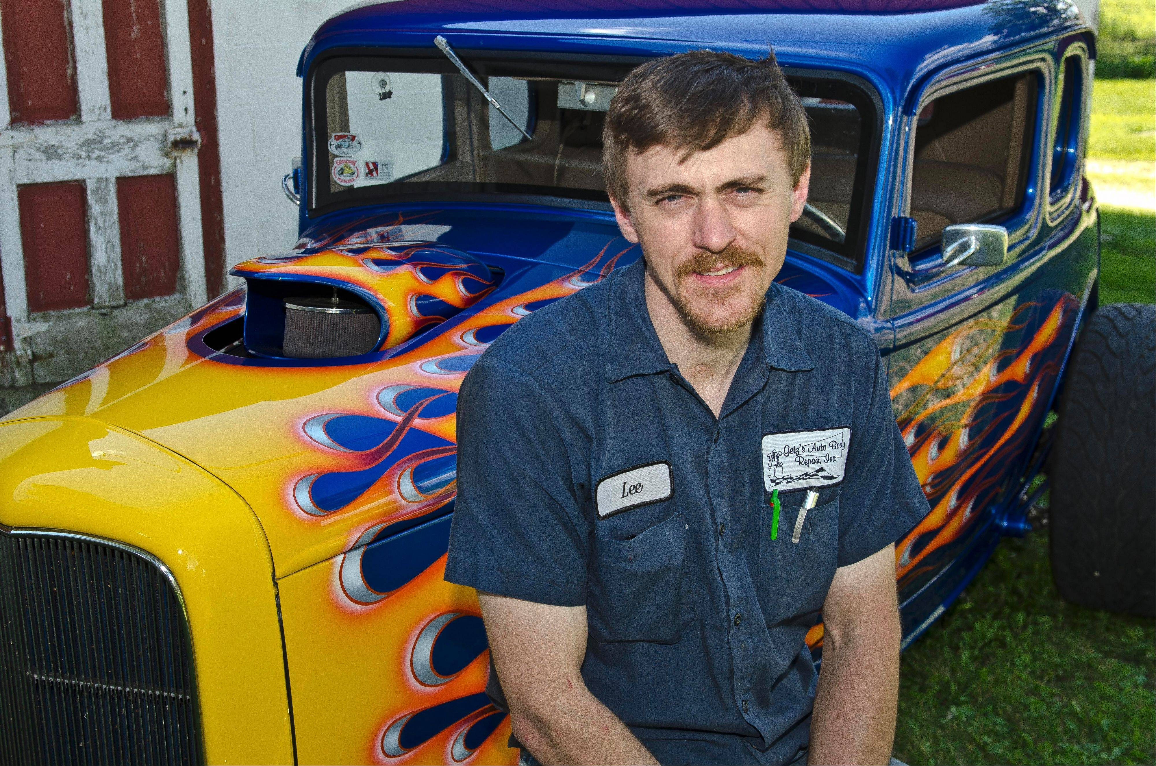 Lee Getzelman of Hampshire has been driving and modifying his 1932 Ford coupe since he was 16 years old.