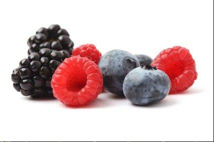 Berries are packed with antioxidants and add some color to a diet.