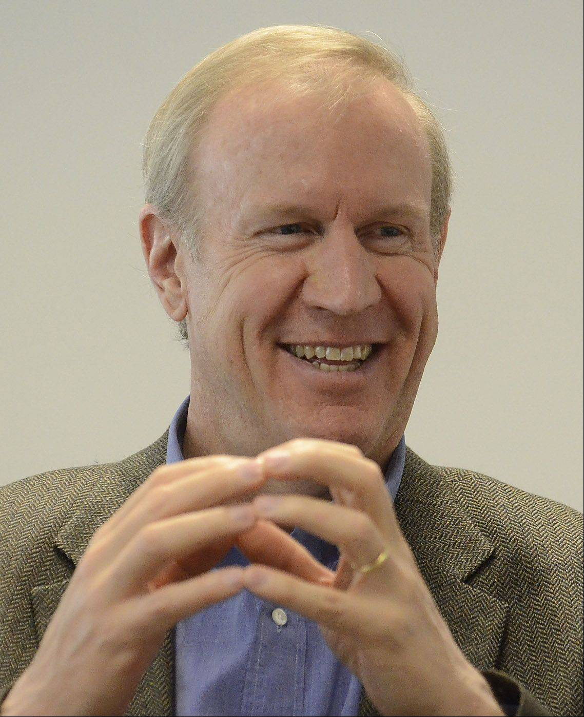 Bruce Rauner, a wealthy businessman from Winnetka, is running for governor