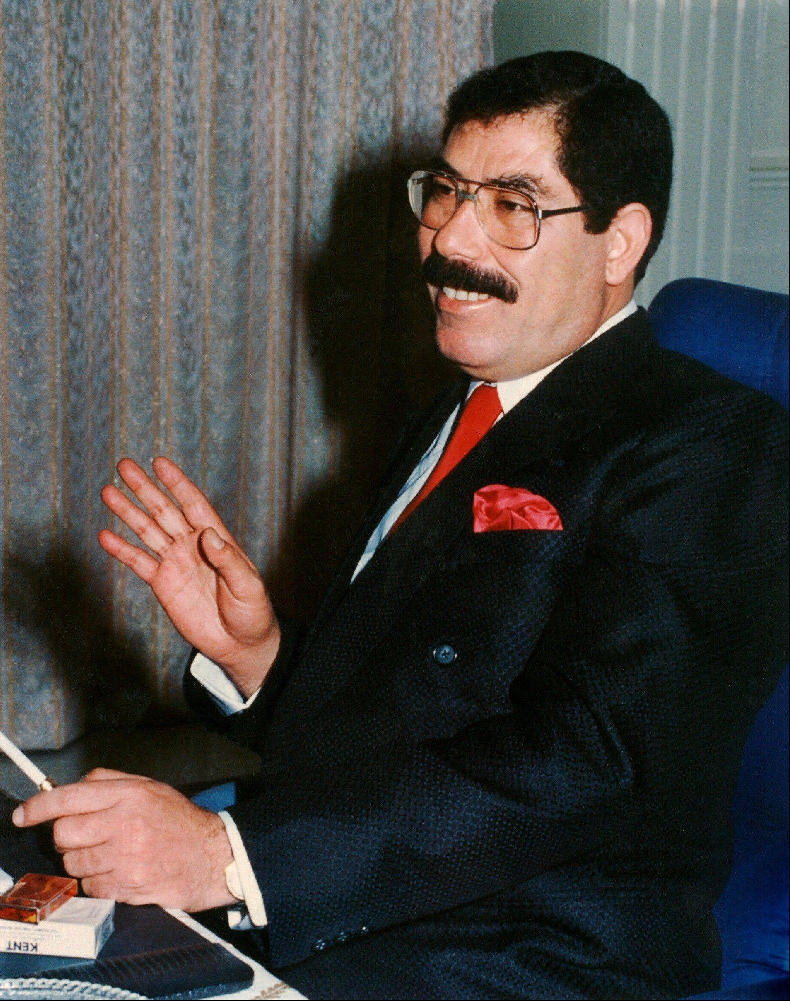 Sabawi Ibrahim al-Hassan, a half-brother of former Iraqi President Saddam Hussein, shown here in 1995, has died of cancer in a Baghdad hospital, a senior official said.