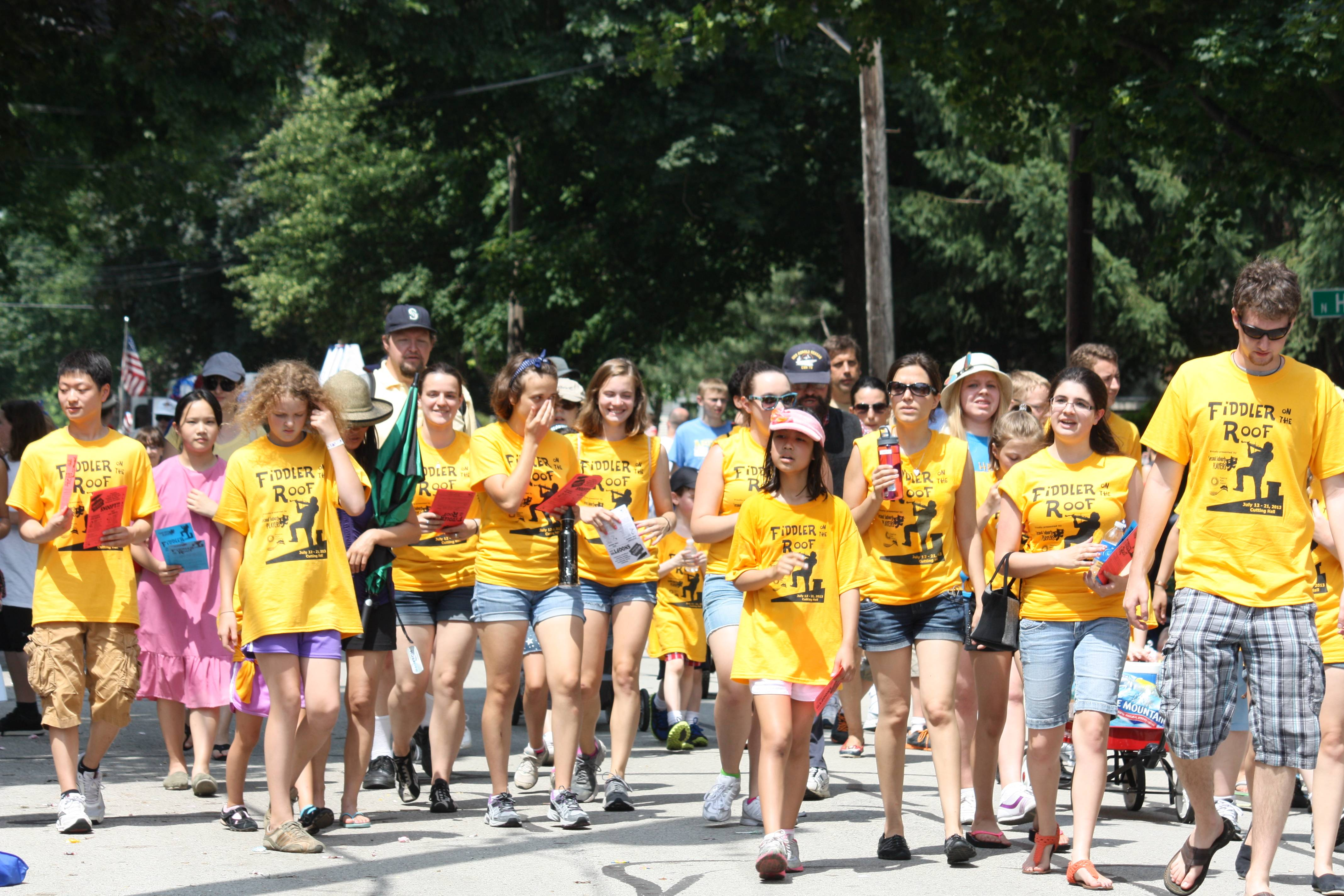 Cast and crew of Fiddler on the Roof marched and sang in Palatine's Hometown Fest Parade on July 6.