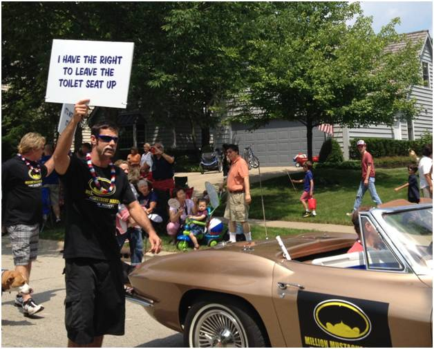 "Lake Bluff Fourth of July Parade declares ""Mustache Marchers"" first place winners"