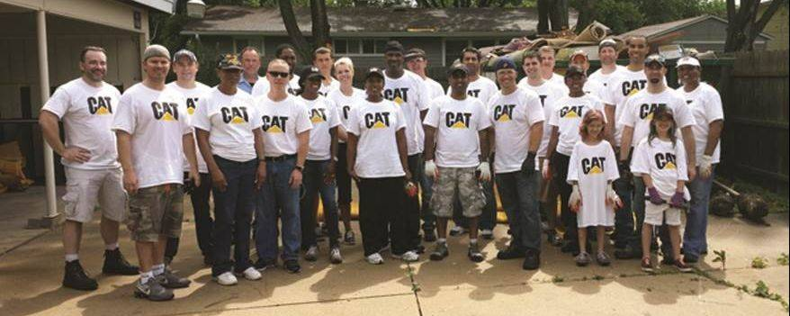 Employees of Caterpillar Aurora participated in a community day of caring that benefitted local human service agencies, including the Association for Individual Development.