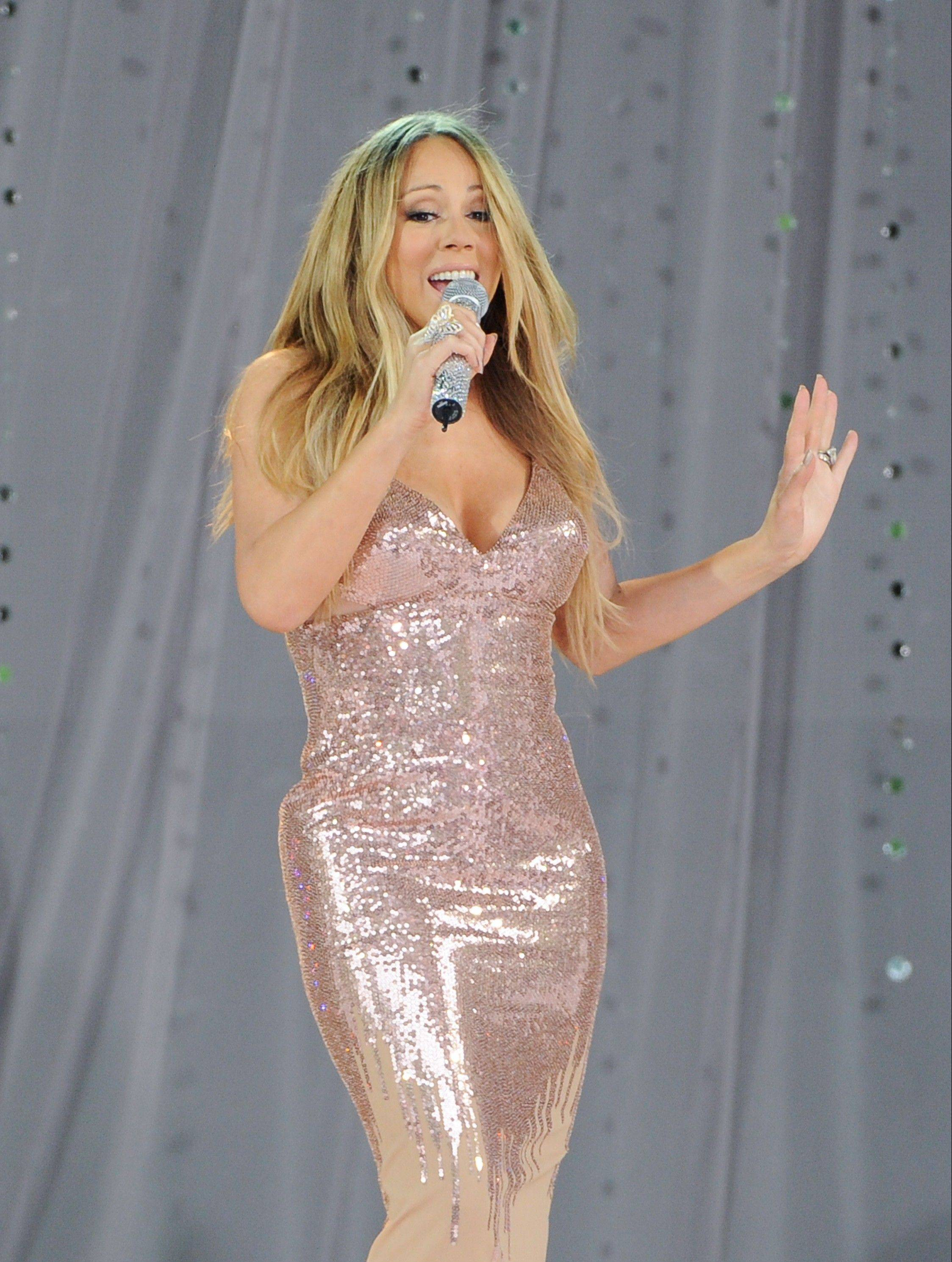 Singer Mariah Carey is in the hospital for a shoulder injury. The pop star's representative says the singer went to the hospital late Sunday after injuring her shoulder while filming a music video.