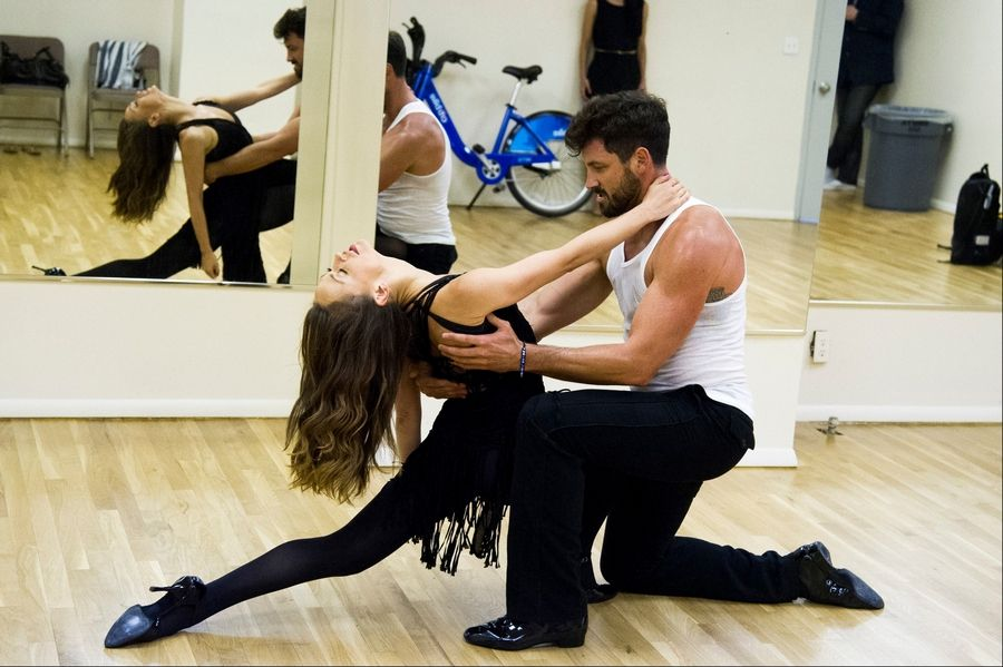 "Dancers Karina Smirnoff and Maksim Chmerkovskiy rehearse for the upcoming Broadway show ""Forever Tango"" in New York. Smirnoff and Chmerkovskiy, best known for their work on ""Dancing with the Stars,"" will star in the revival of Luis Bravo's ""Forever Tango,"" which traces the dance's birth on the streets of 19th-century Buenos Aires to its more modern manifestations."