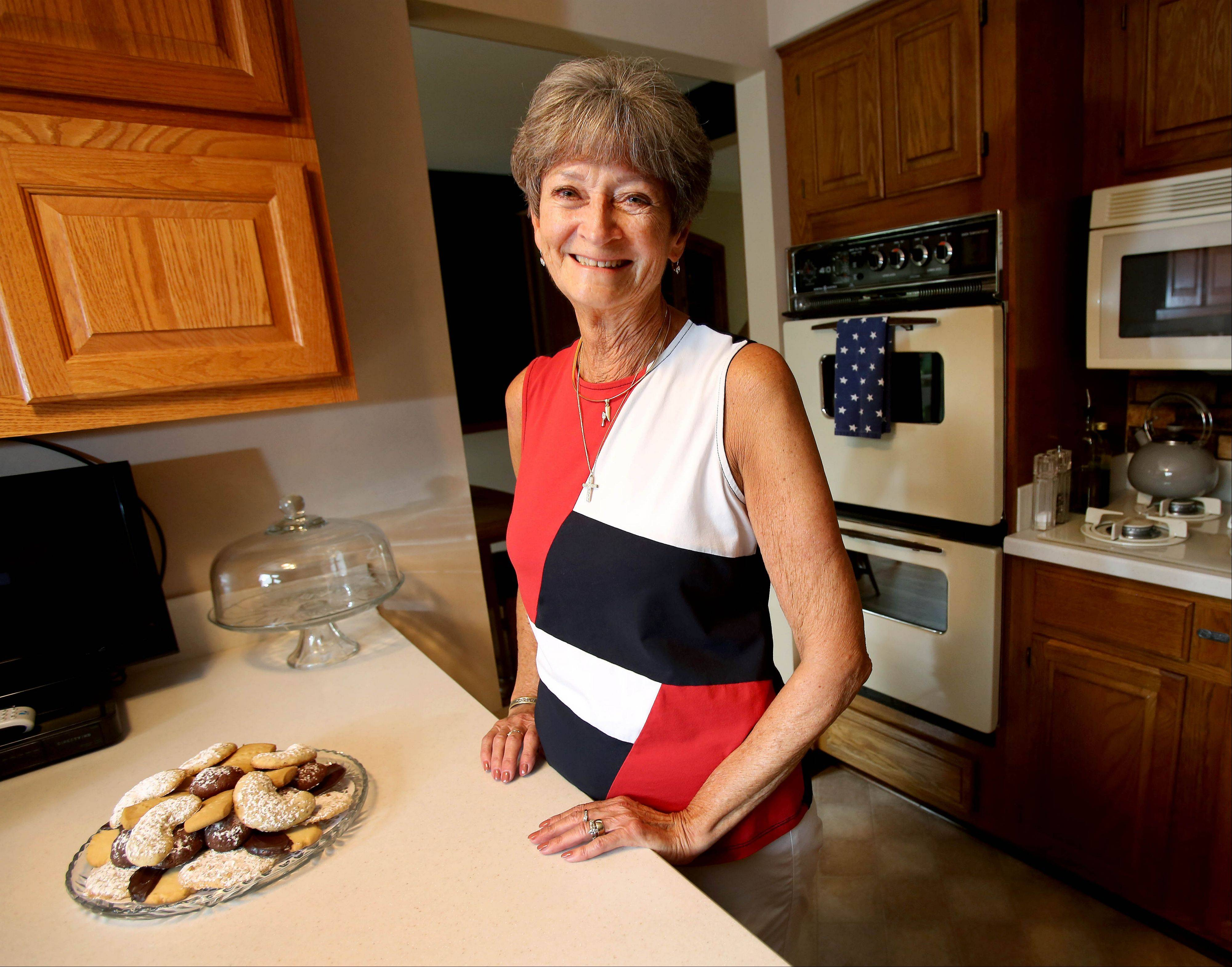 When she's not on the tennis court Peggy Schwerman is in her Roselle kitchen mixing up sweet treats and seasonal salads.
