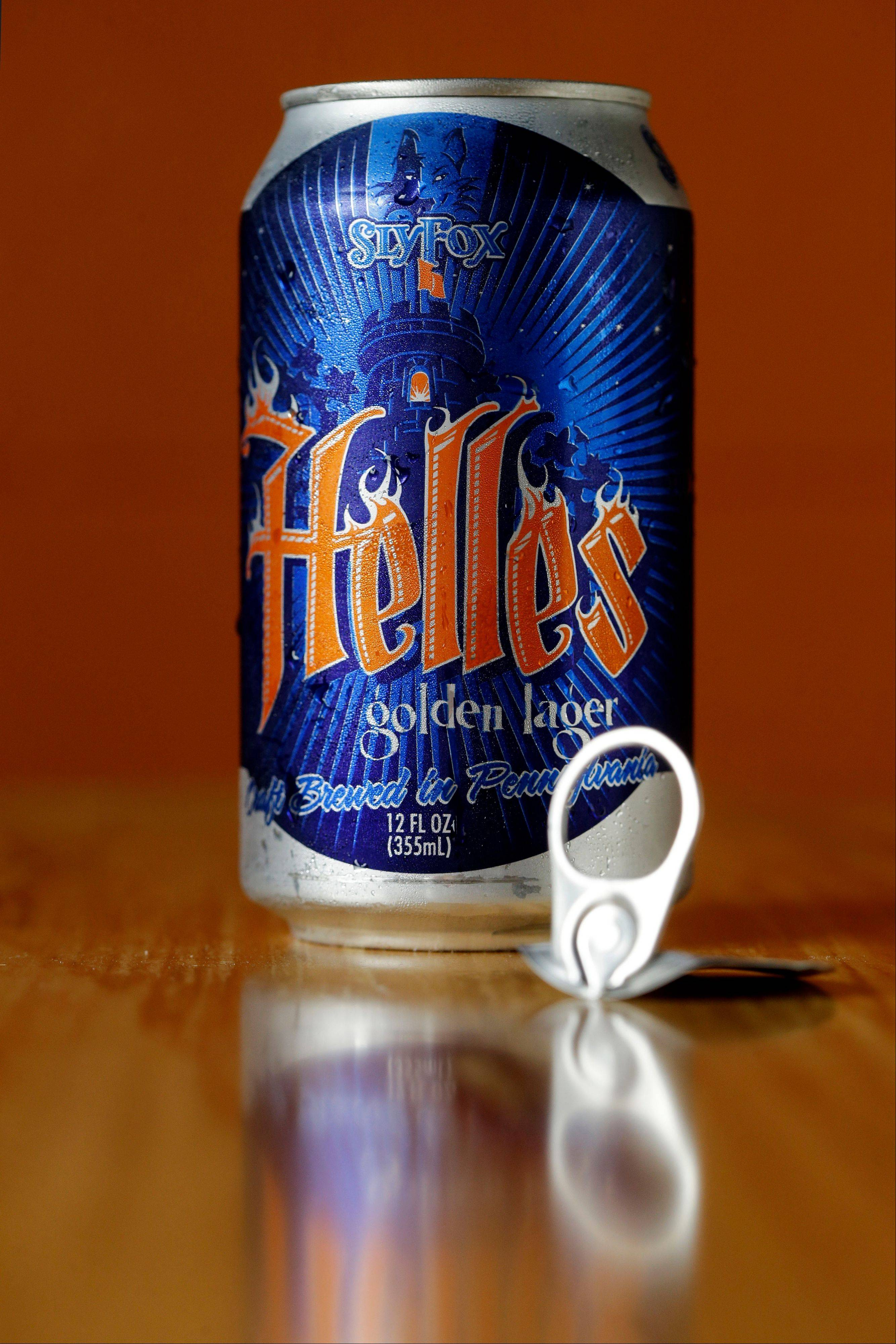 Helles Golden Lager from Sly Fox Brewing Company in Pottstown, Pa., is among the 1,000 craft beers now available in cans.