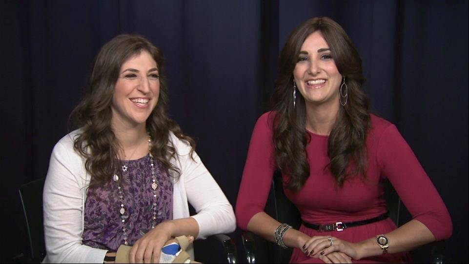 "Actress Mayim Bialik, left, who plays Amy Farrah Fowler on CBS's ""The Big Bang Theory,"" also has starred in one of the videos created by Allison Josephs, right. Their ""Science vs. Religion: Mayim Bialik and the other Big Bang Theory"" episode has reached more than 330,000 views on YouTube."