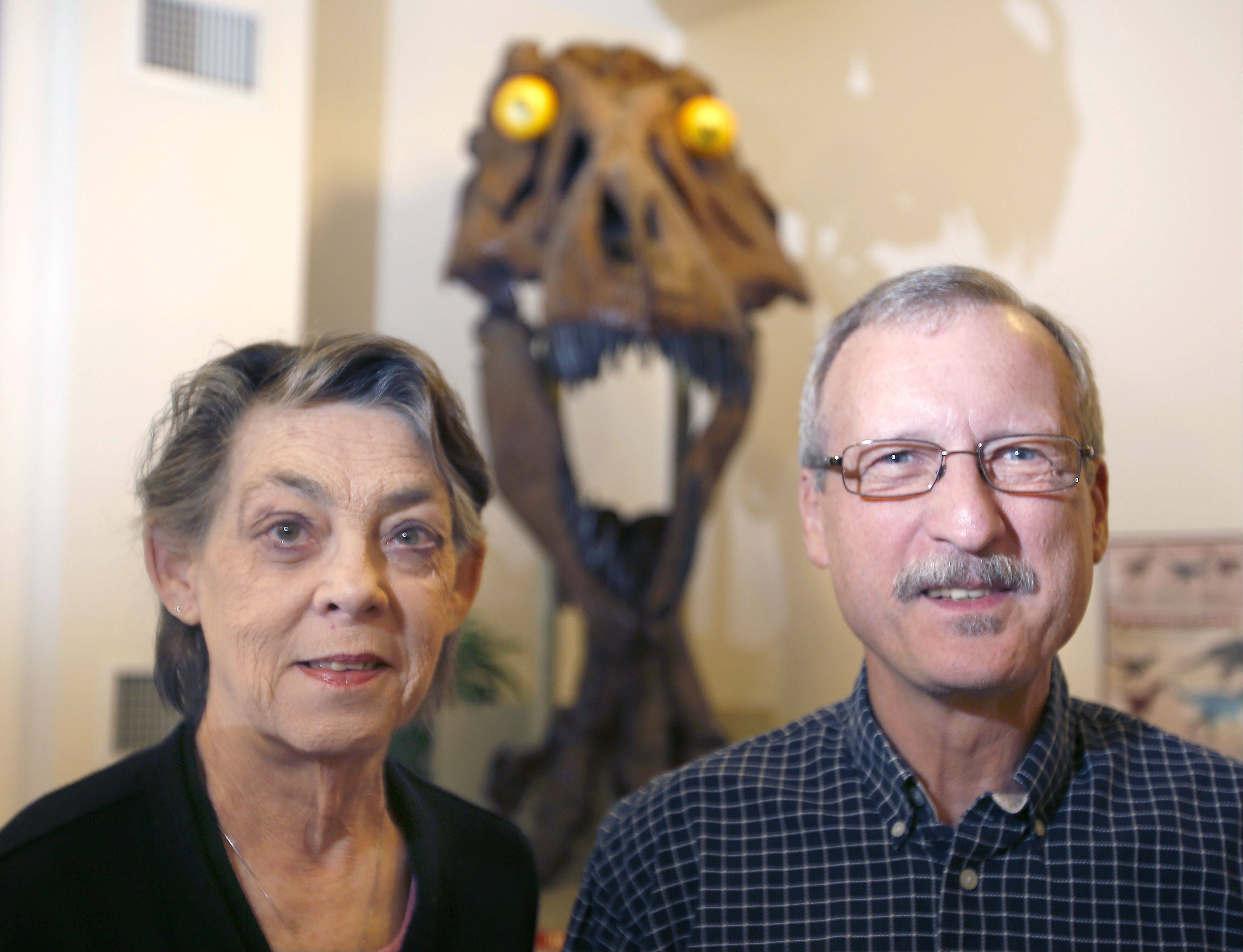 Elgin Public Museum Executive Director Peggie Stromberg and Coordinator Mike McGrath are looking forward to Thursday's Paleontology Pizza Night.