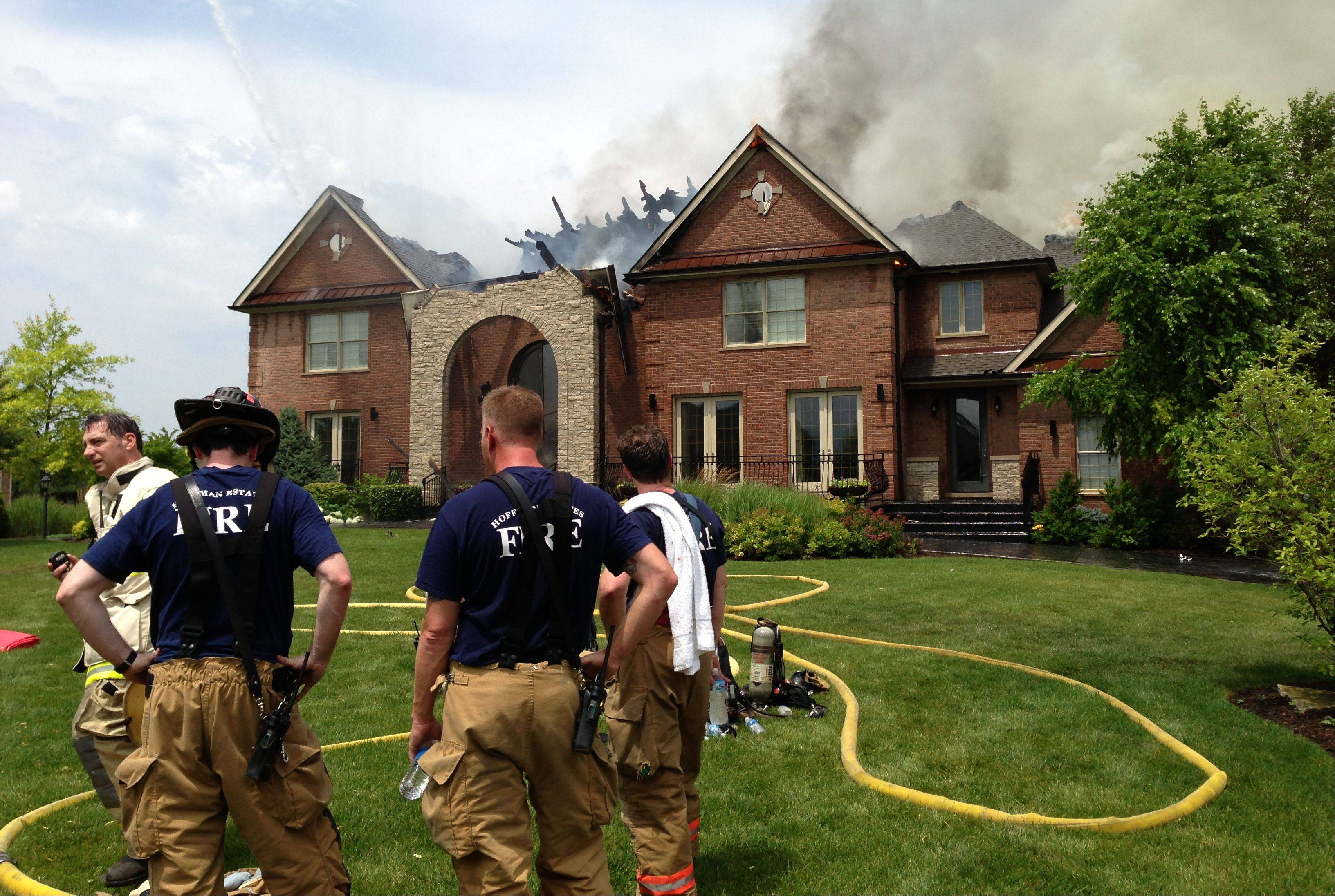 Firefighters at the scene of a house fire at Terra Vita Drive in South Barrington.
