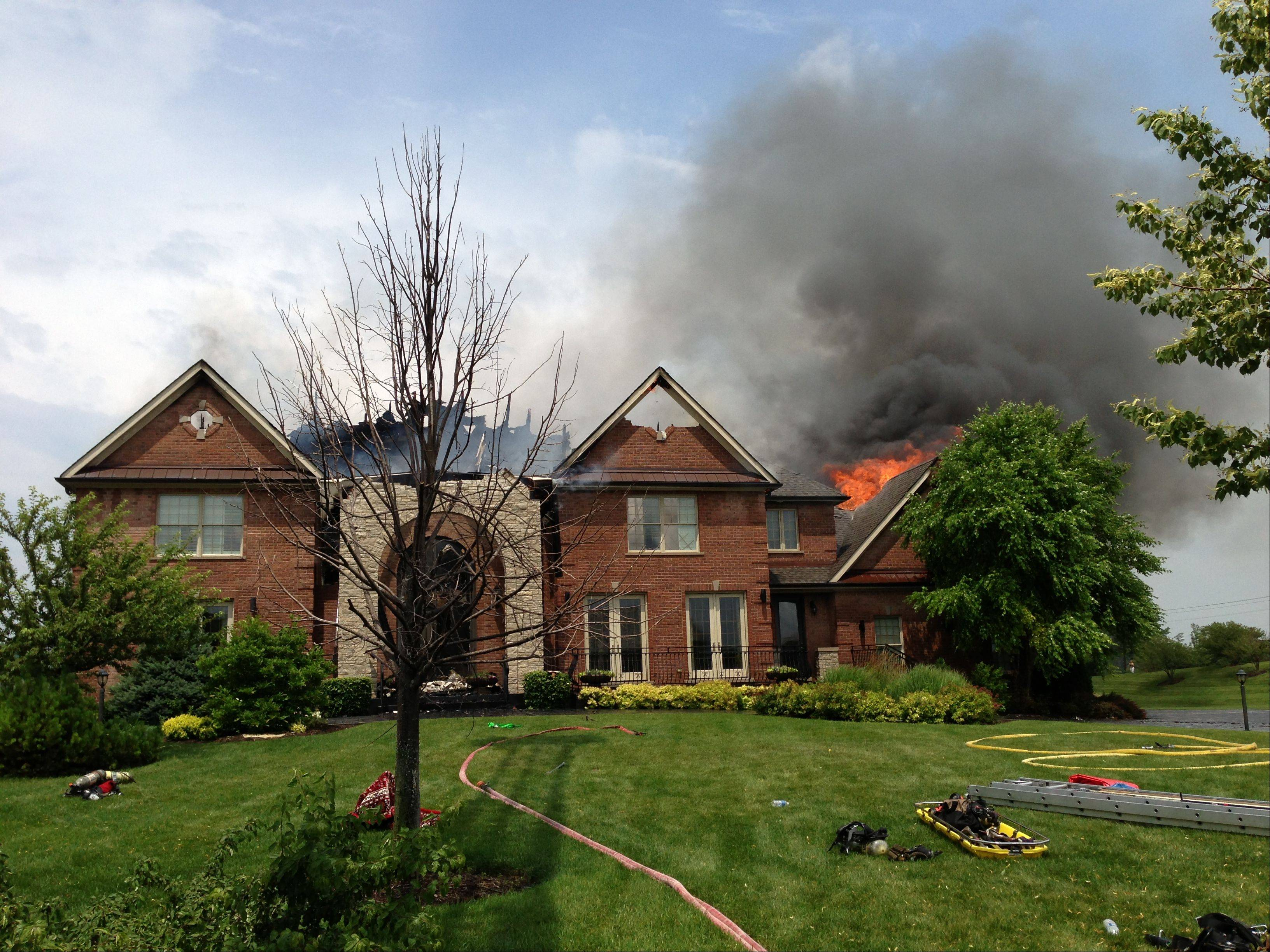 This beautiful South Barrington house fell victim to a lightning strike, authorities suspect.