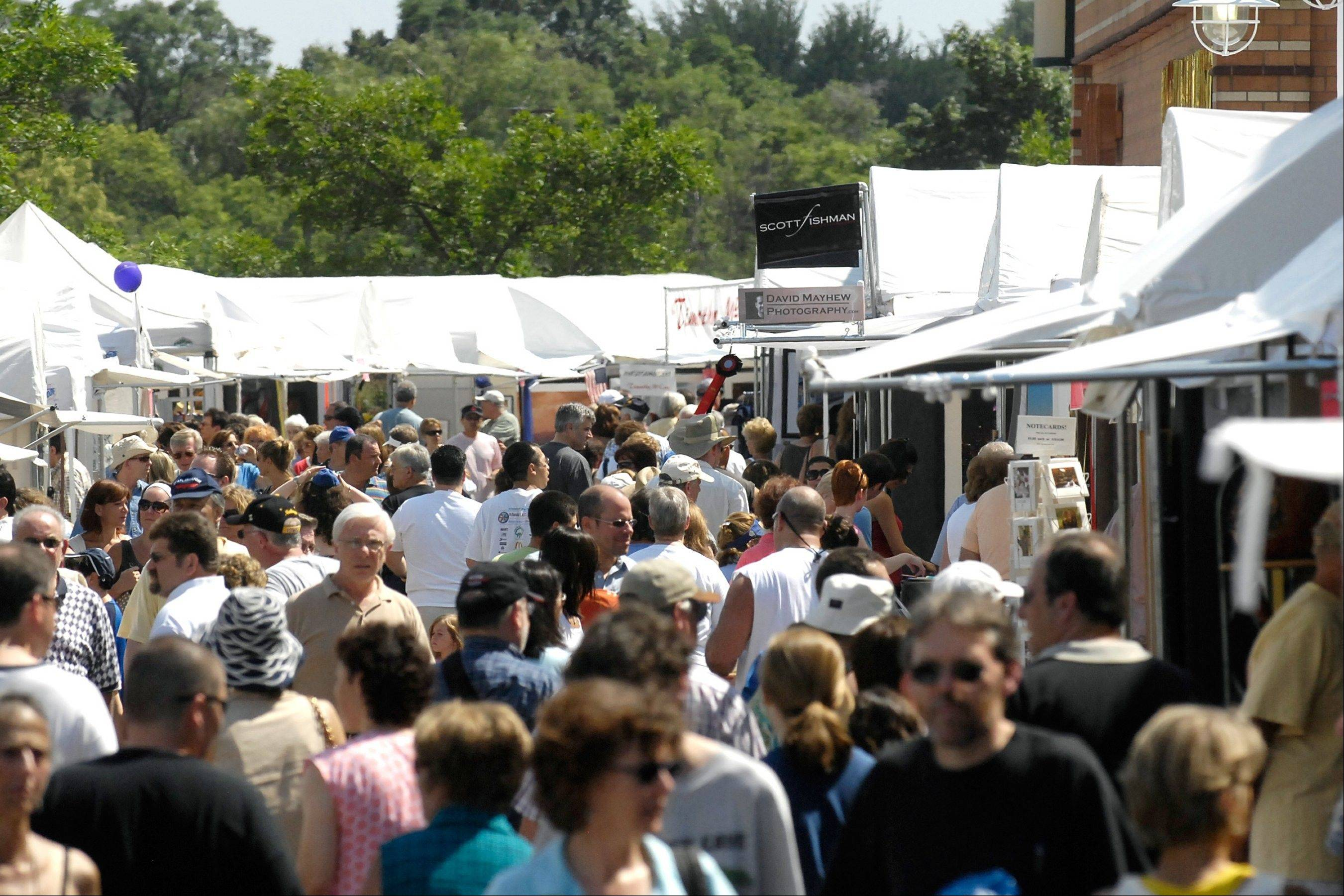 The Buffalo Grove Arts Festival is one of the most well-attended arts fests in the suburbs.