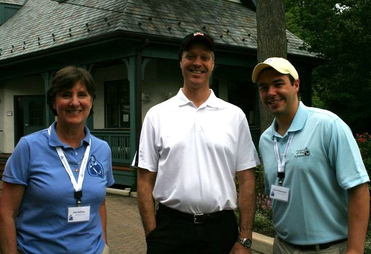Lisa Sullivan, executive director of St. Joseph Services (left) is pictured at the recent fundraising event with Accretive Health senior vice president John Klare (center), and Accretive Health senior manager Chris Hartemayer.