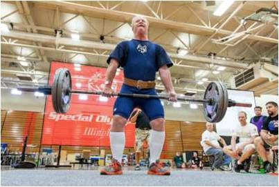 "Ted ""Brahma Bull"" Callahan deadlifting and winning a silver medal in the Special Olympics Summer Games."