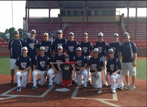 Back Row from Left:  Head Coach Jeff Kramer, Christian Kuzemka, Robert Zablock, Matt Gura, Christian Howell, Adam Rojas, DJ Varney, Jack Ciombor, Asst Coach Tom Ciombor  Front Row from Left:  Michael Mannix, Brandon Popp, Matt Guenther,  Bat Boy Nick Ciombor, Ben Chally, Brett Jungles,  Ryan Nudd