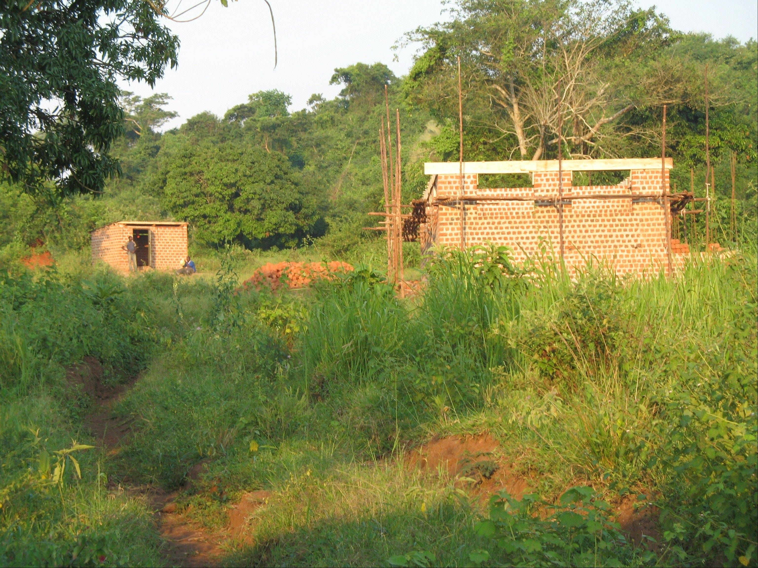The COVE Alliance campus under construction in Uganda. The project took seven years to complete.