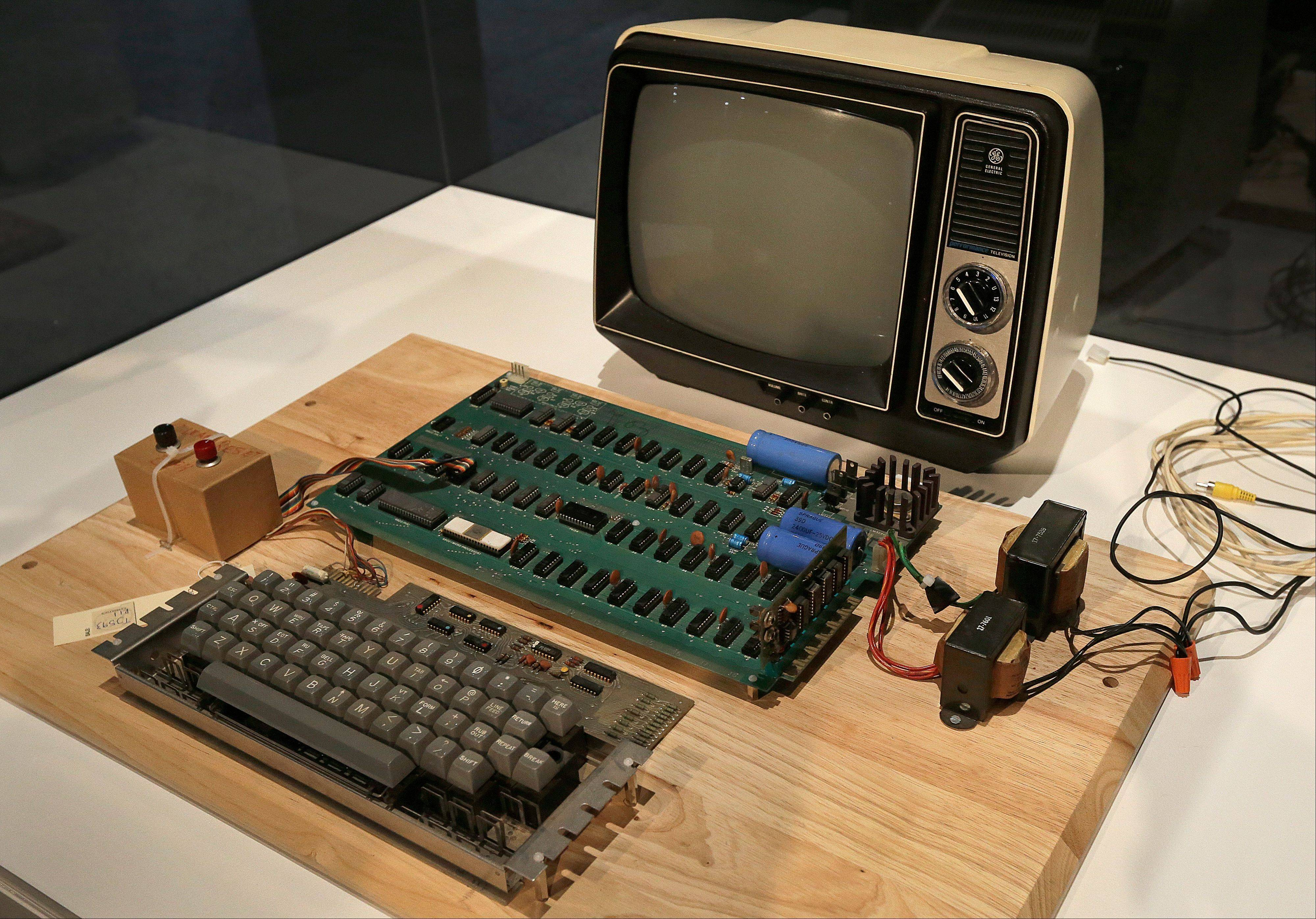 This Apple 1 computer from 1976 sold Monday for $387,750 at an online-only auction.