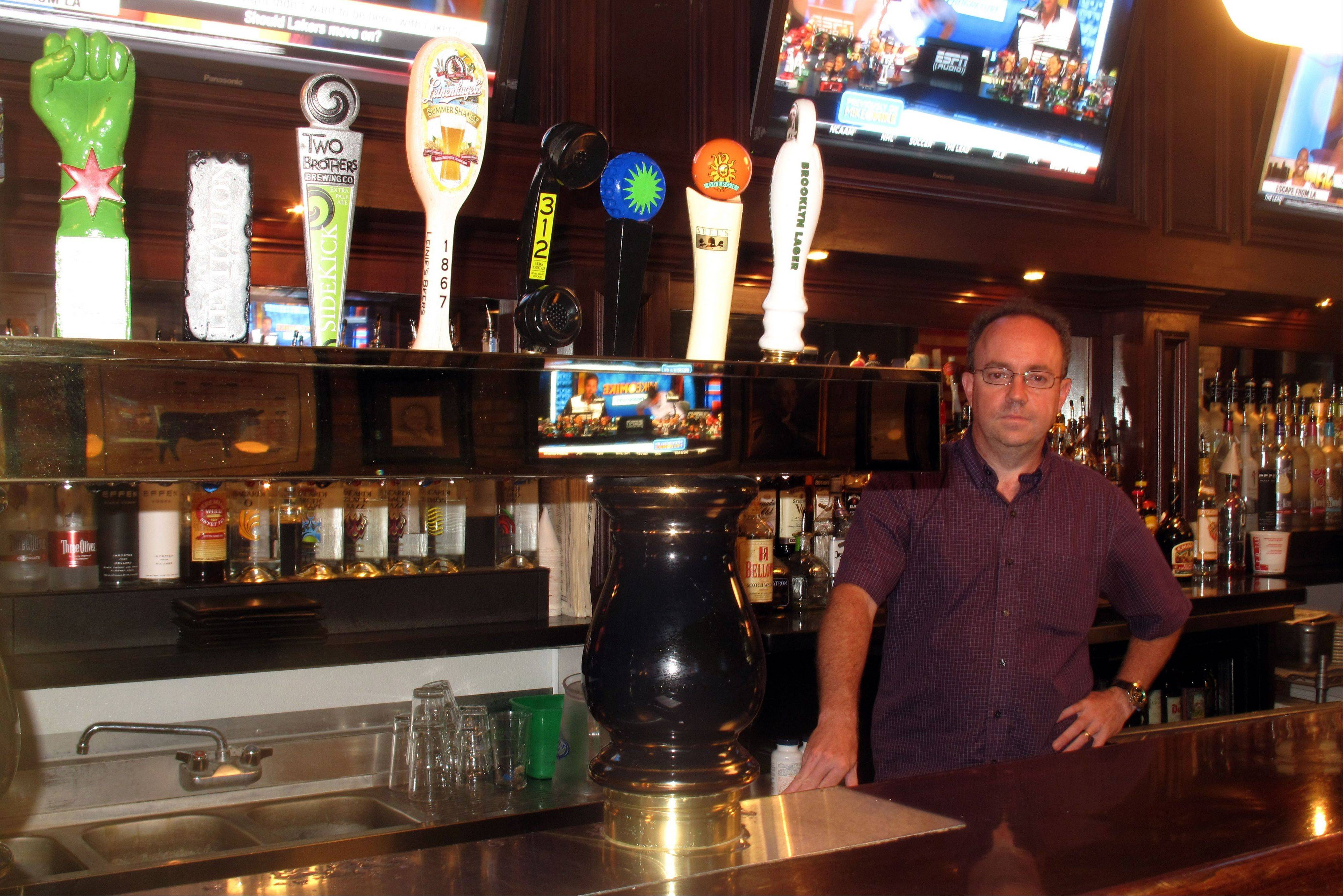 Jim Bergeron, owner of the Wise Boxer Pour House at 16 W. Jefferson Ave. in downtown Naperville, is offering a new selection of craft beers and a completely different menu at the restaurant and pub, which he took over from the long-controversial BlackFinn American Saloon.